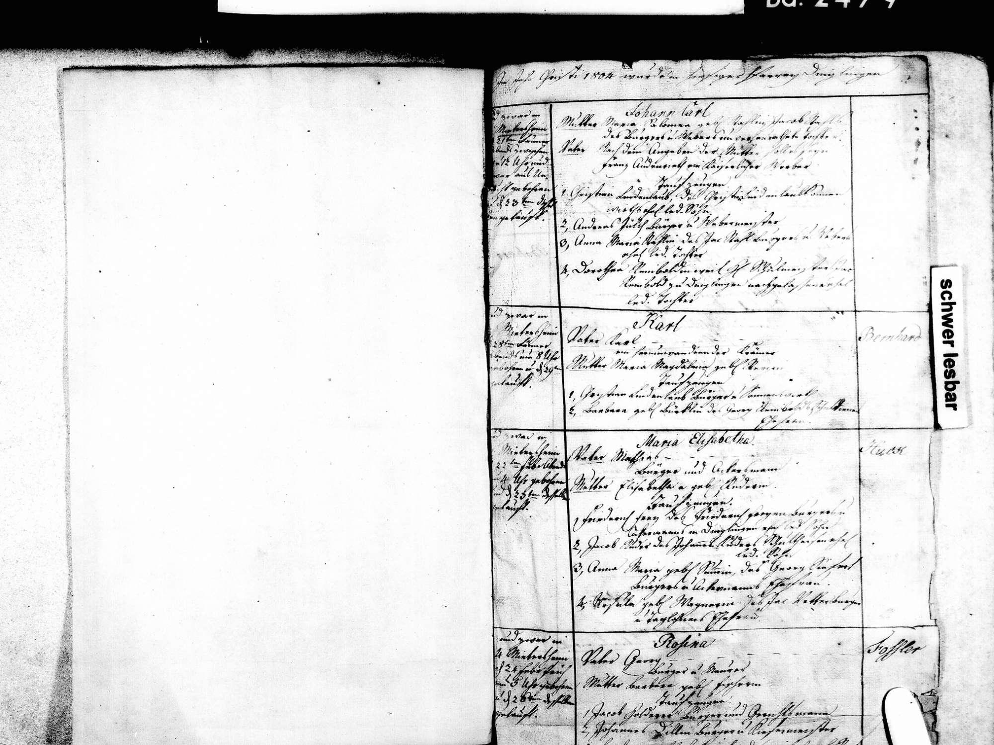 Mietersheim, Lahr im Schwarzwald OG; Evangelische Gemeinde: Standesbuch 1804-1839, Bild 3