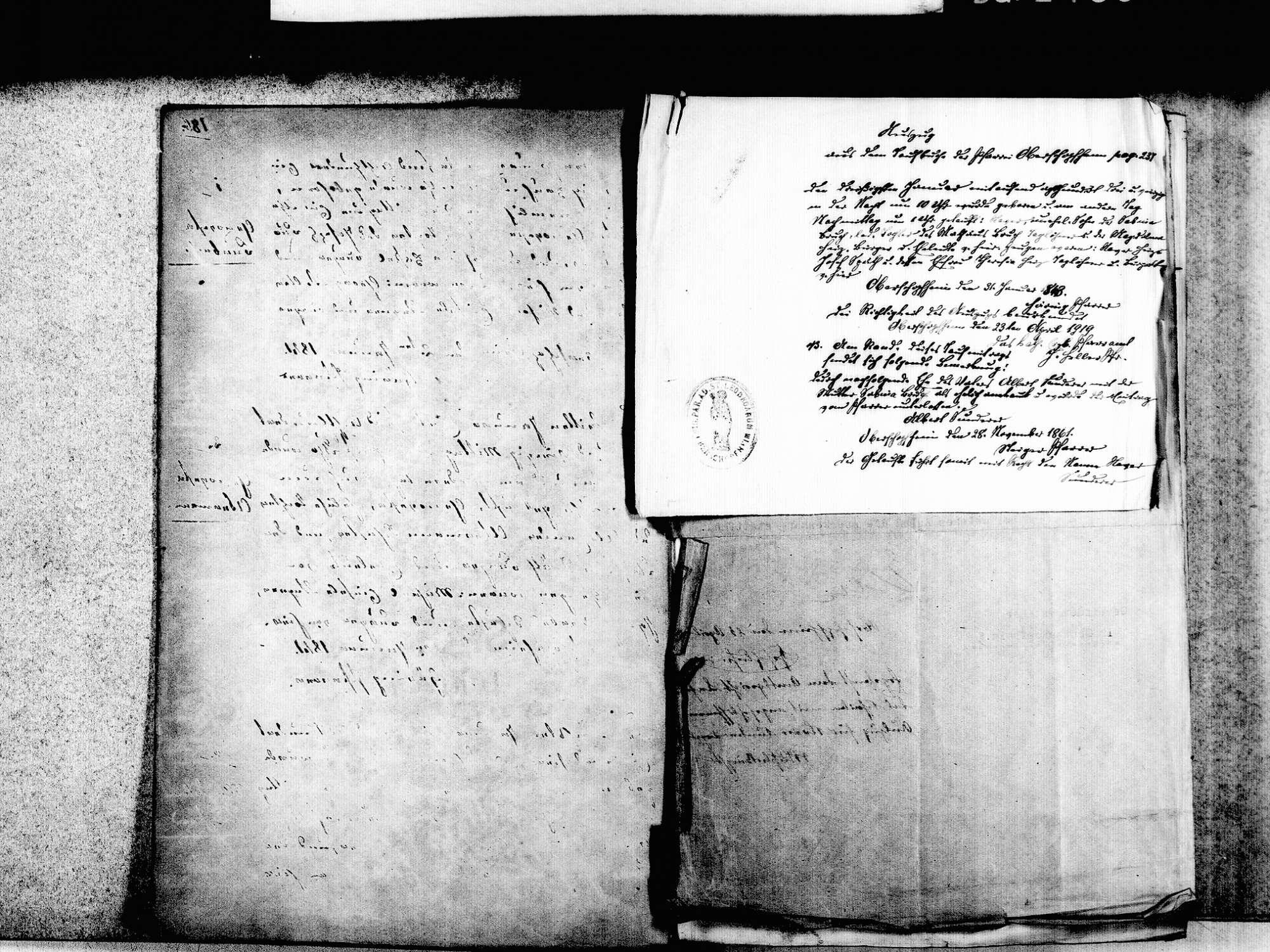 Oberschopfheim, Friesenheim OG; Katholische Gemeinde: Standesbuch 1841-1852, Bild 3