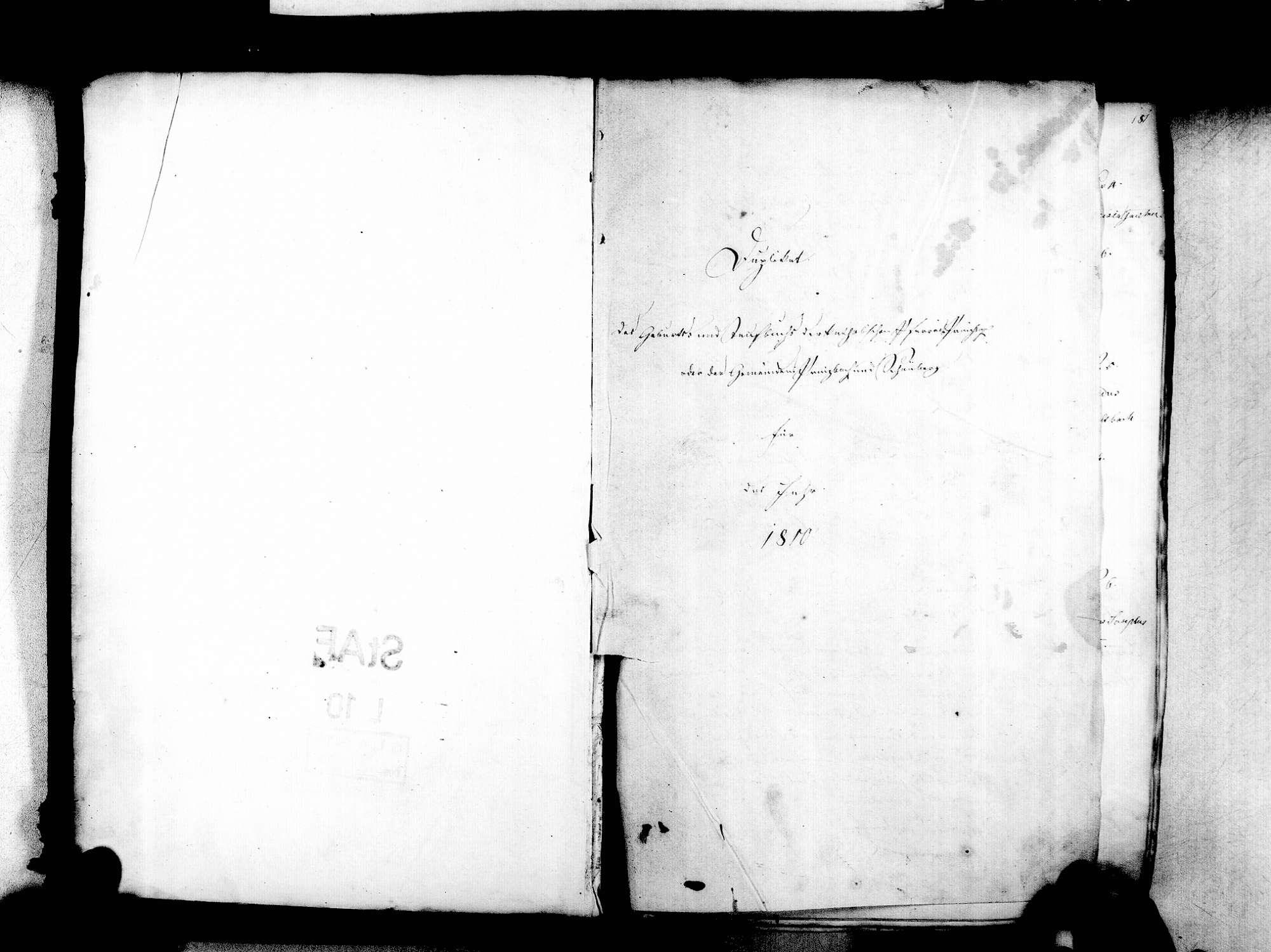 Prinzbach, Biberach OG; Katholische Gemeinde: Standesbuch 1810-1838, Bild 3
