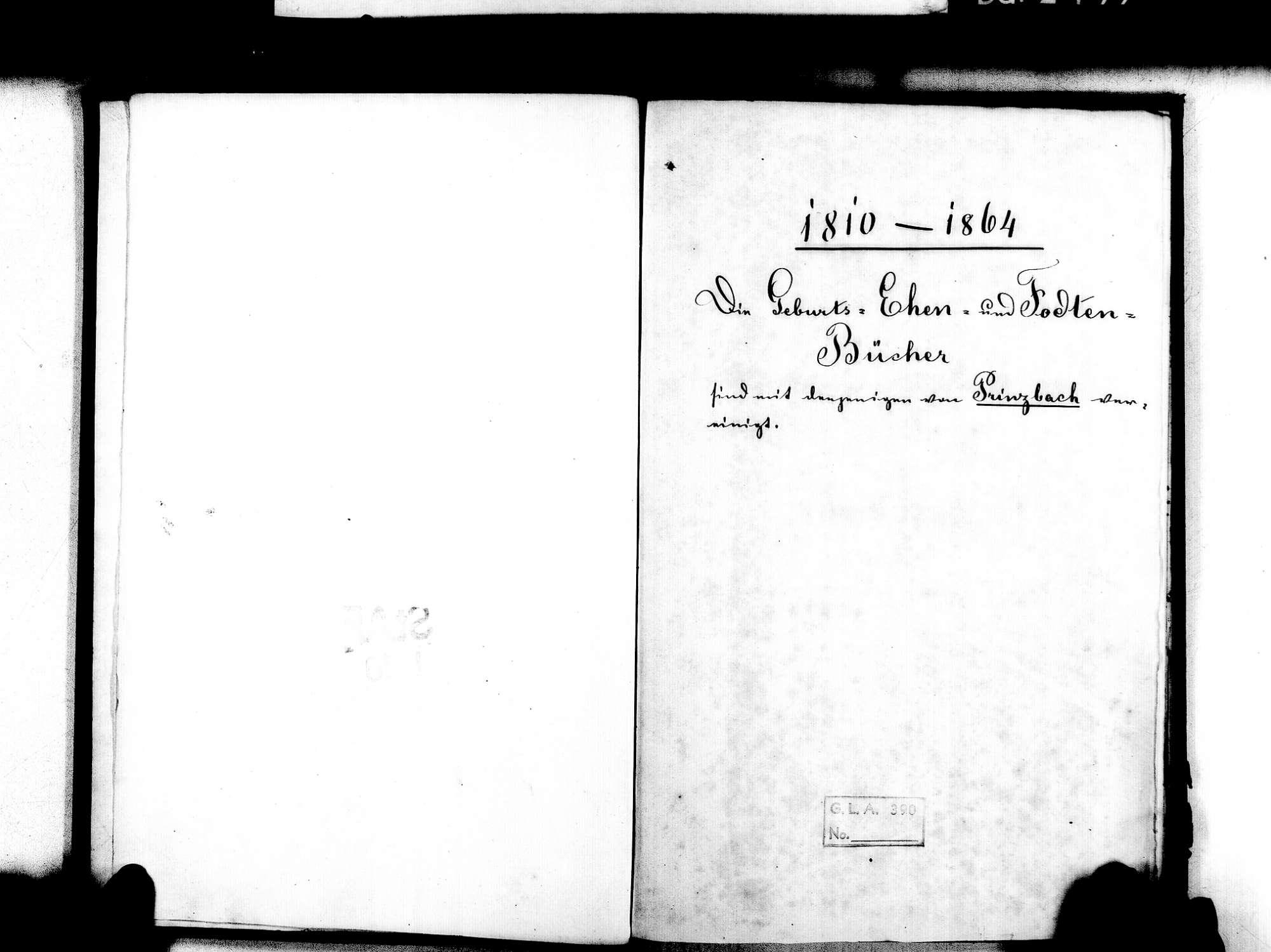 Schönberg, Seelbach OG; Katholische Gemeinde: Standesbuch 1864-1869, Bild 3