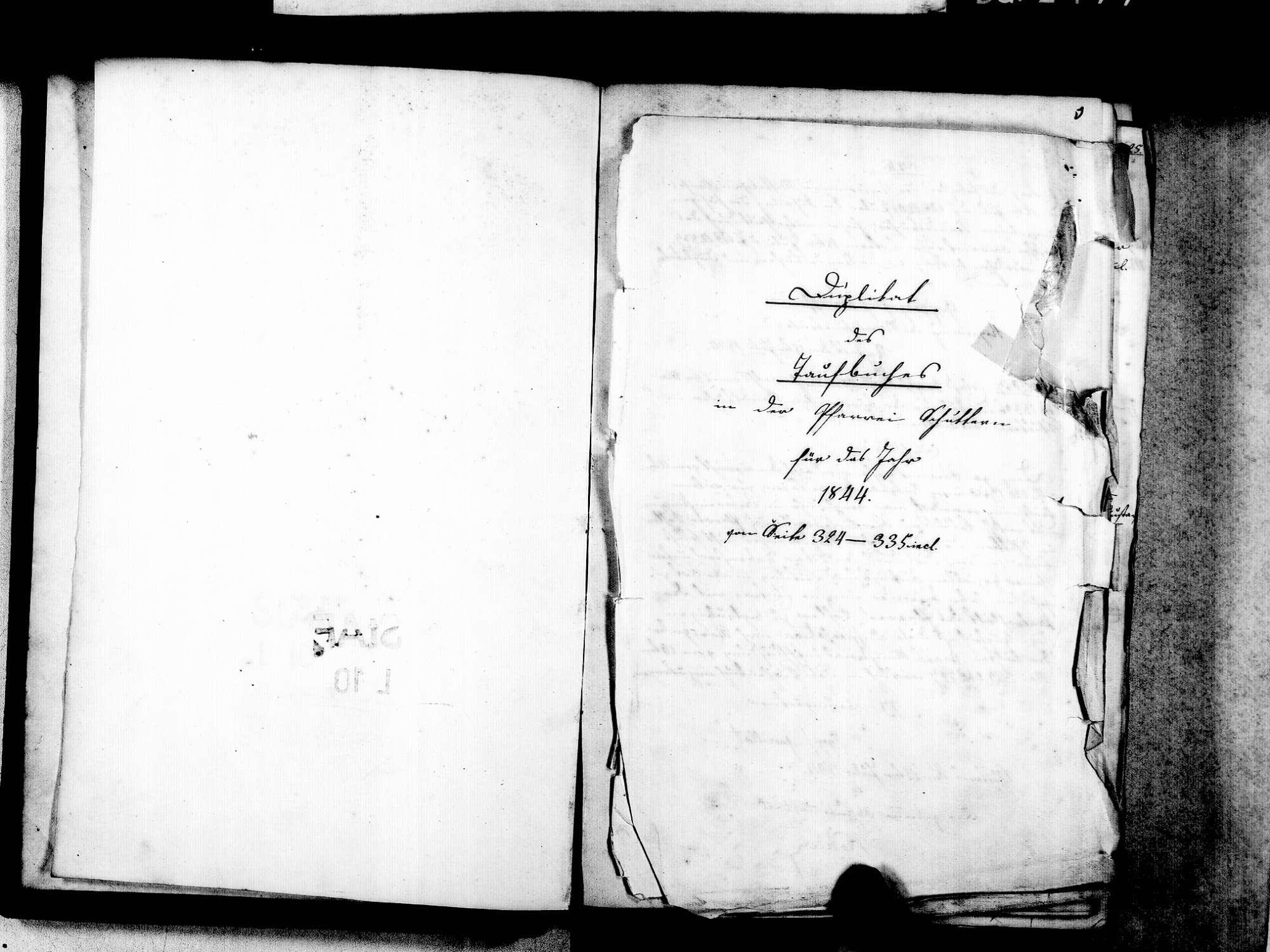 Schuttern, Friesenheim OG; Katholische Gemeinde: Standesbuch 1843-1869, Bild 3