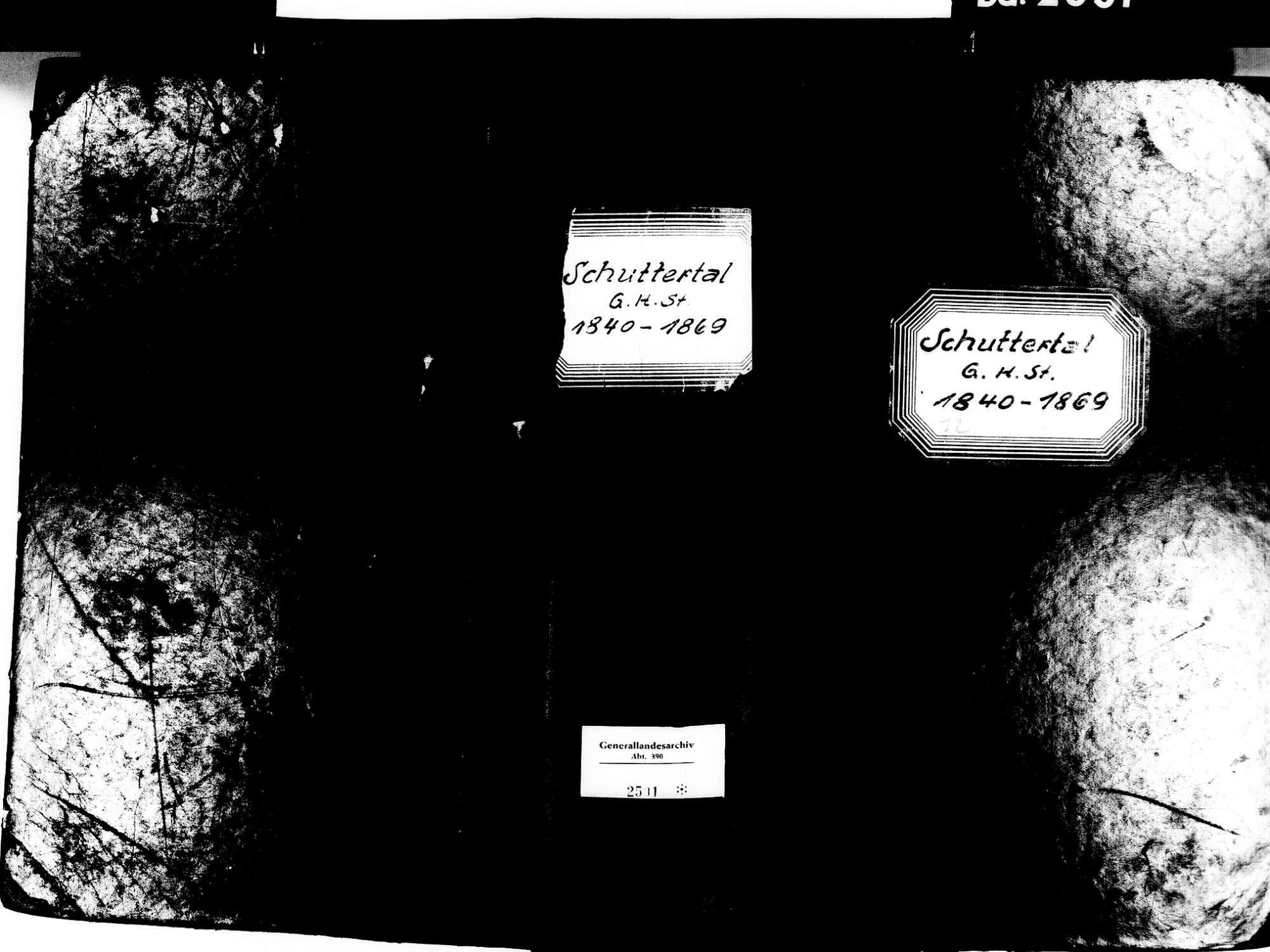 Schuttertal OG; Katholische Gemeinde: Standesbuch 1840-1869, Bild 2
