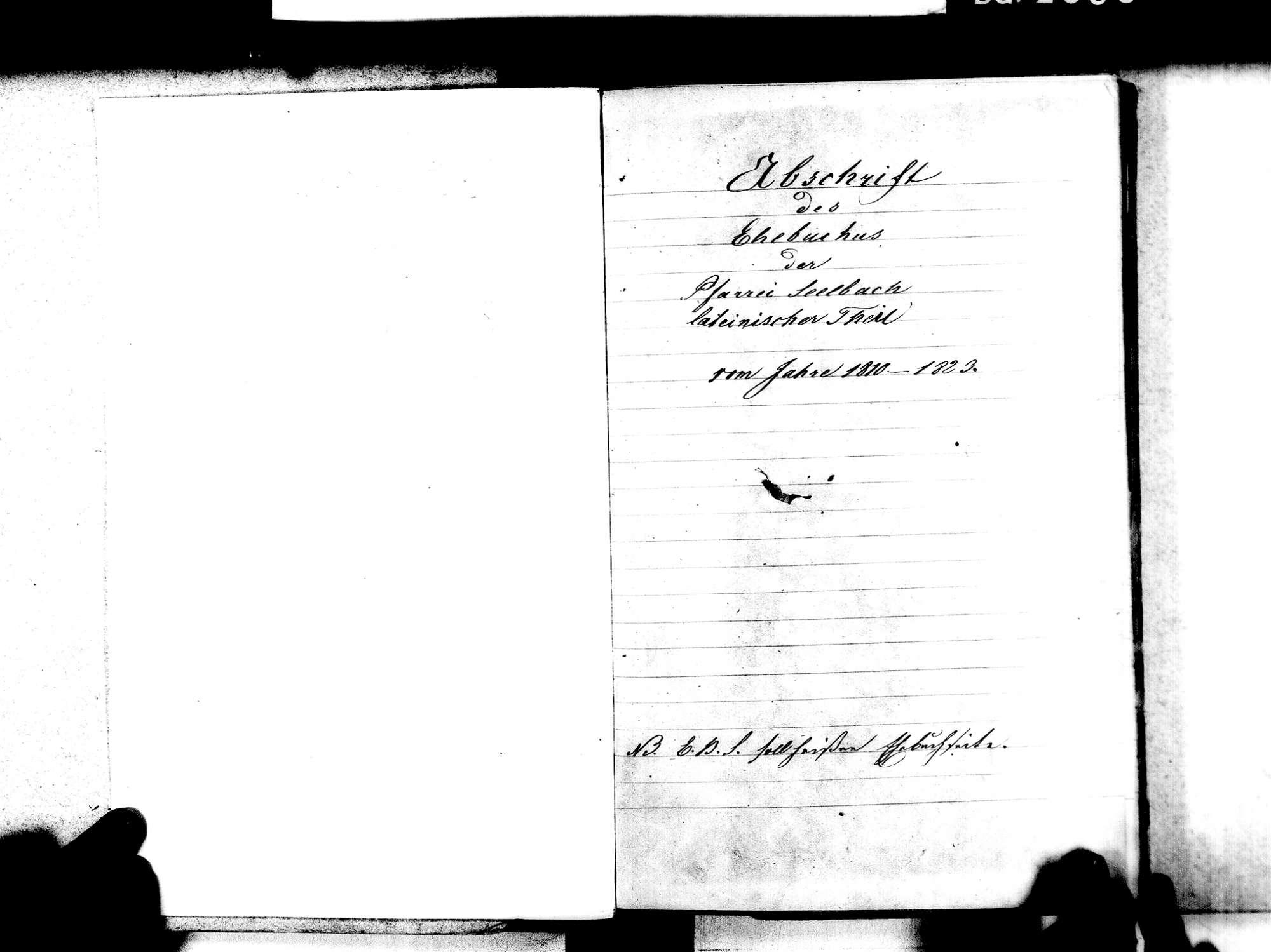 Seelbach OG; Katholische Gemeinde: Heiratsbuch 1810-1828, Bild 3