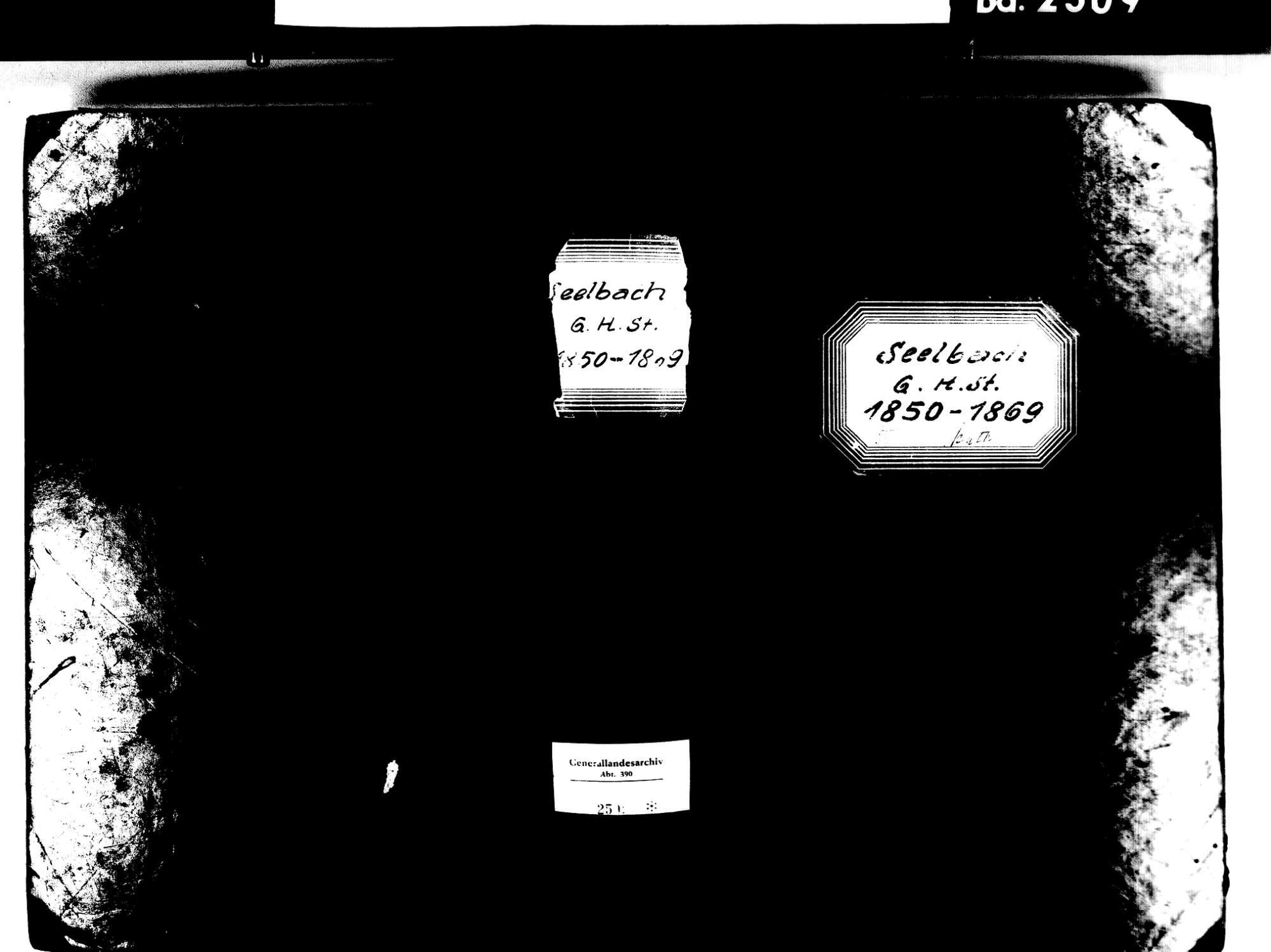 Seelbach OG; Katholische Gemeinde: Standesbuch 1850-1969, Bild 1