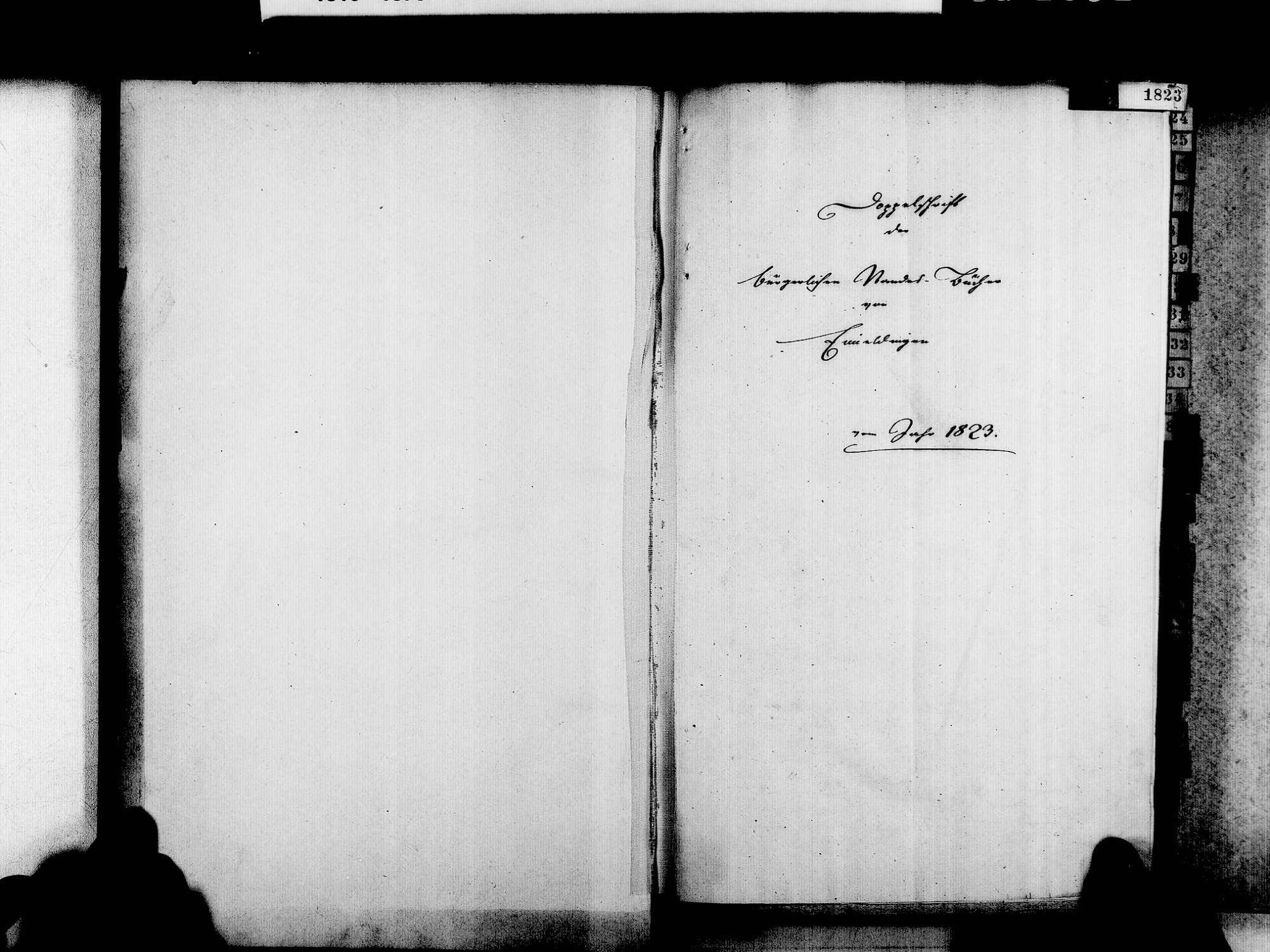 Eimeldingen LÖ; Evangelische Gemeinde: Standesbuch 1823-1850, Bild 3