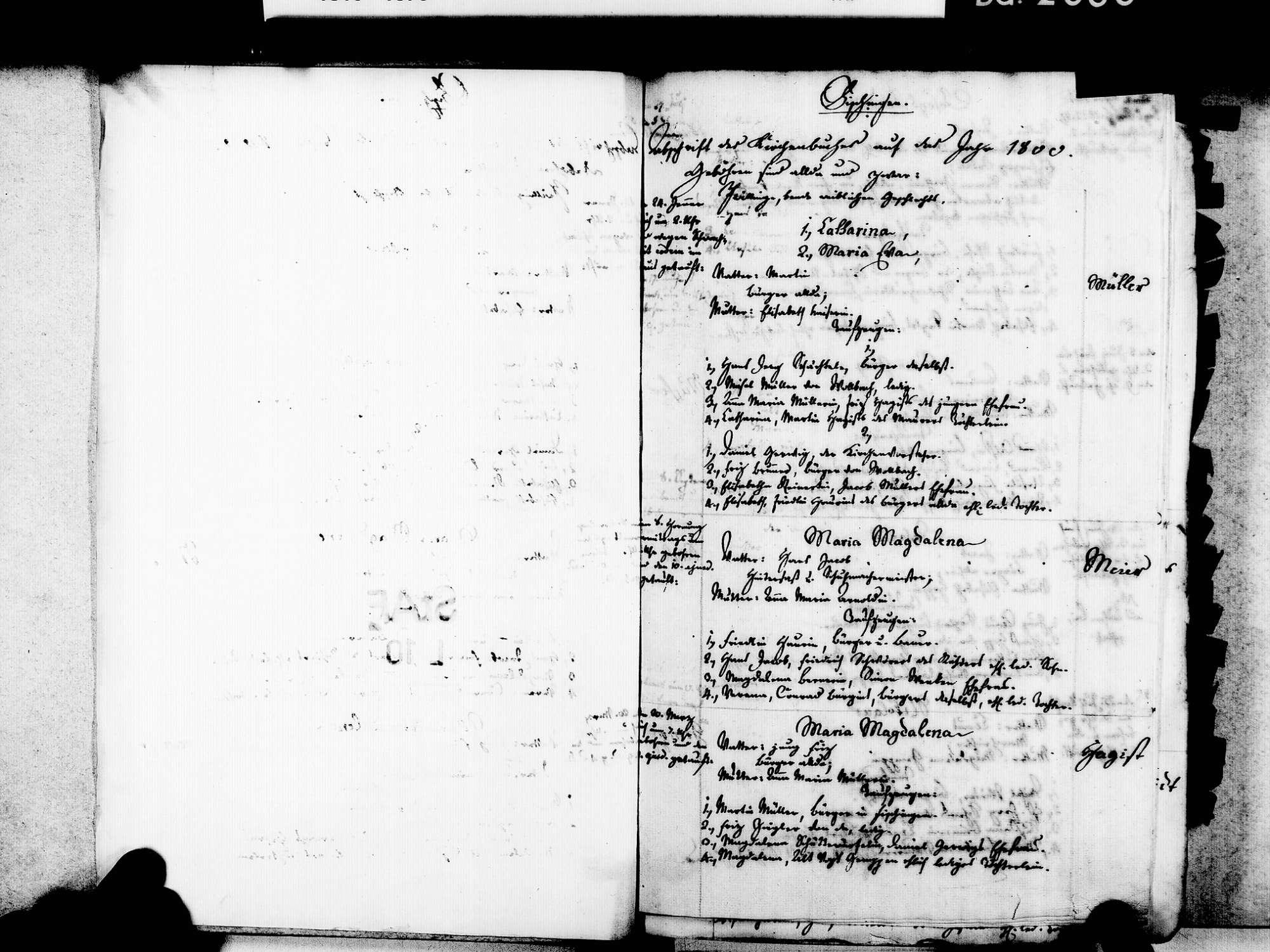 Fischingen LÖ; Evangelische Gemeinde: Standesbuch 1800-1827, Bild 3