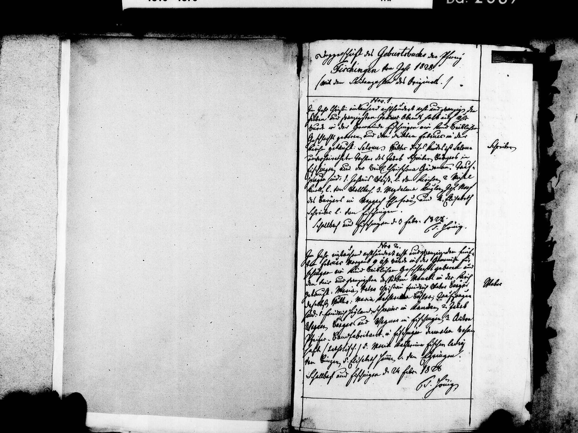 Fischingen LÖ; Evangelische Gemeinde: Geburtenbuch 1828-1869, Bild 3