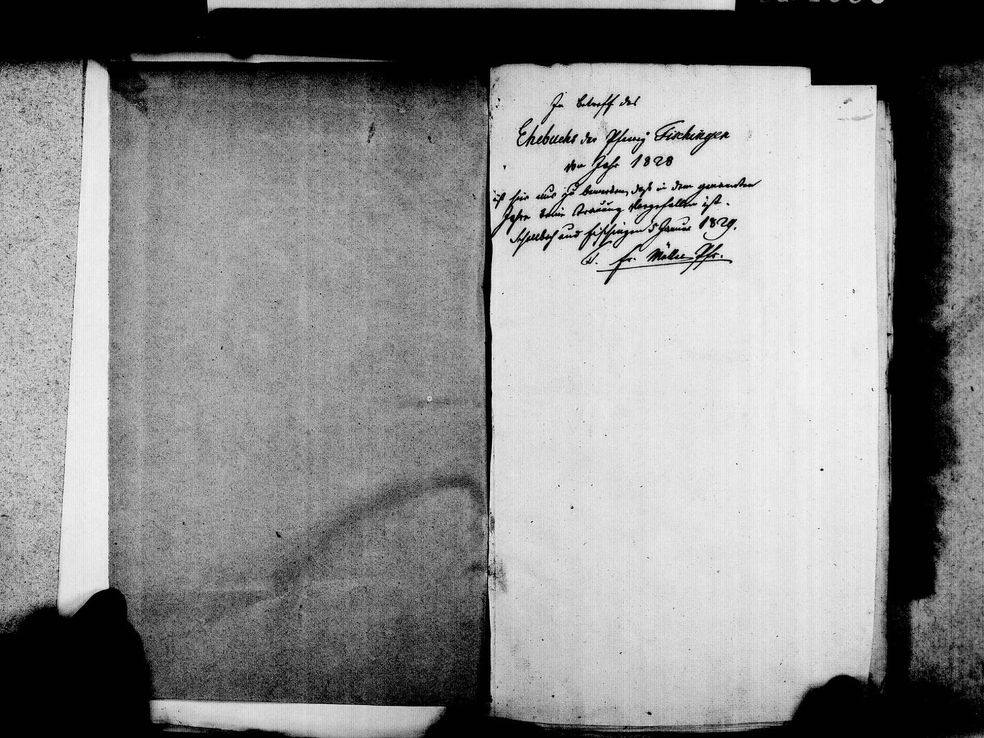 Fischingen LÖ; Evangelische Gemeinde: Heiratsbuch 1828-1869, Bild 3