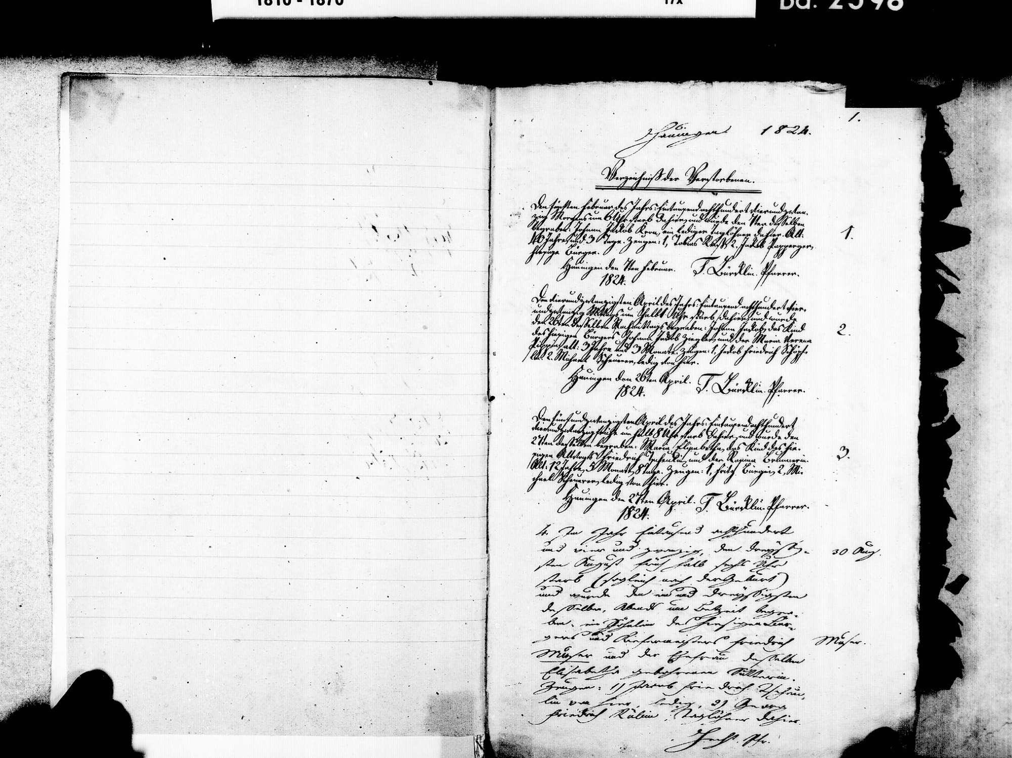 Hauingen, Lörrach LÖ; Evangelische Gemeinde: Heiratsbuch 1824-1869 Hauingen, Lörrach LÖ; Evangelische Gemeinde: Geburtenbuch 1855, Bild 3