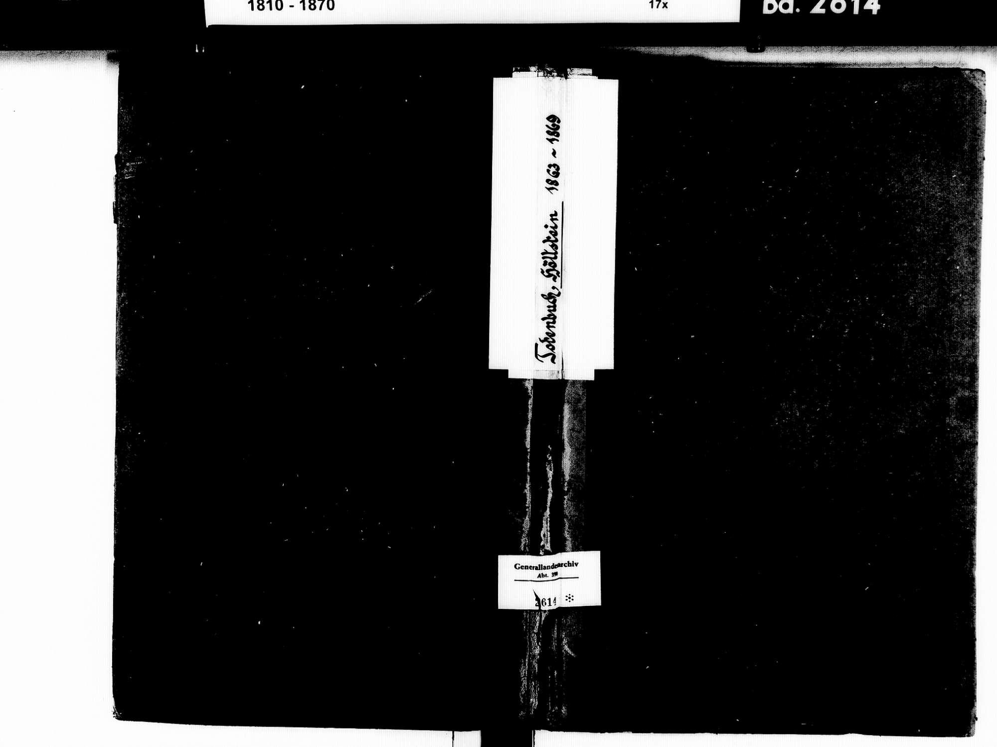 Höllstein, Steinen LÖ; Evangelische Gemeinde: Sterbebuch 1863-1869 Enthält: Einzelne Katholische Einträge, Bild 1