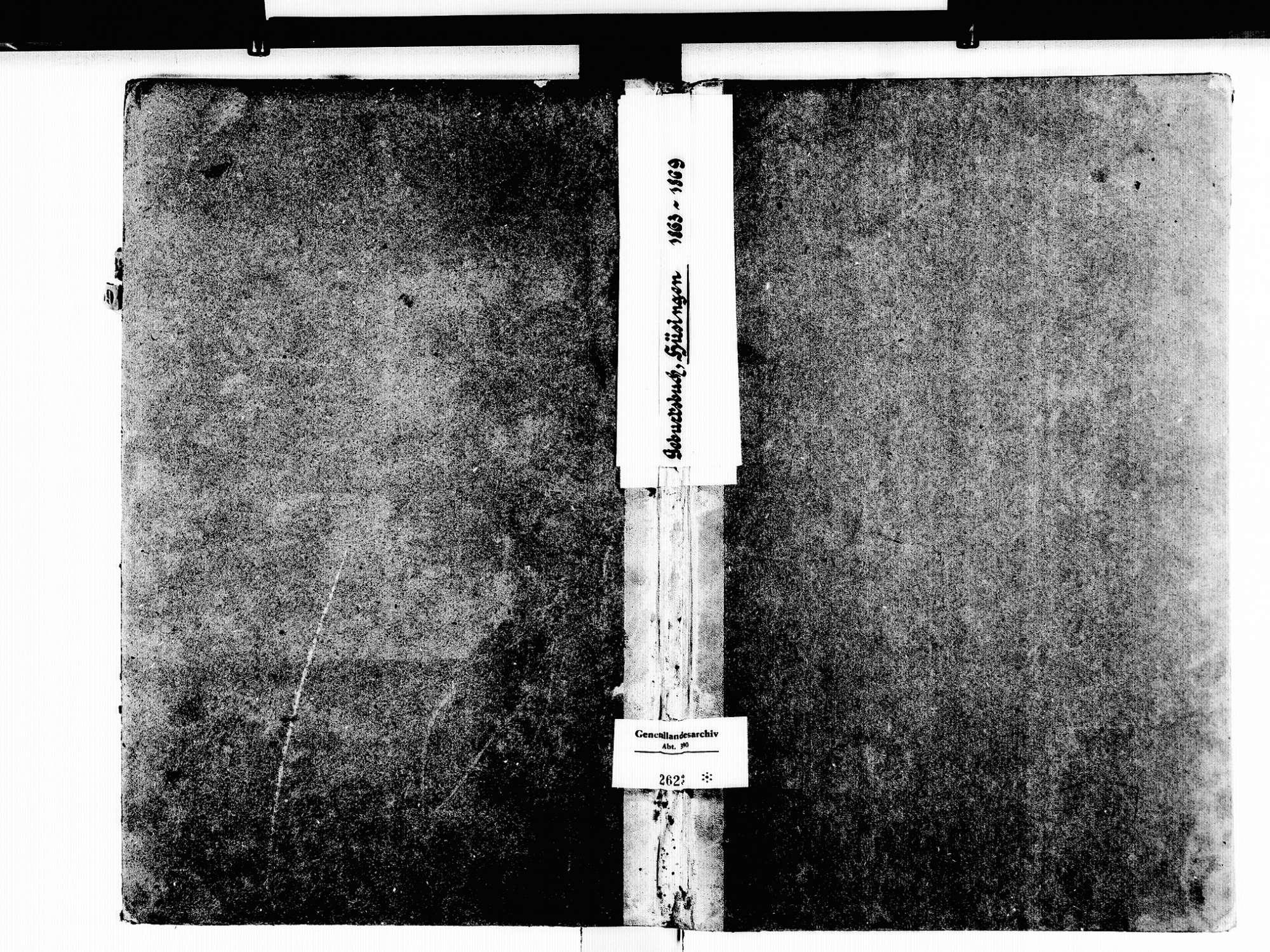 Hüsingen, Steinen LÖ; Evangelische Gemeinde: Geburtenbuch 1863-1869, Bild 1
