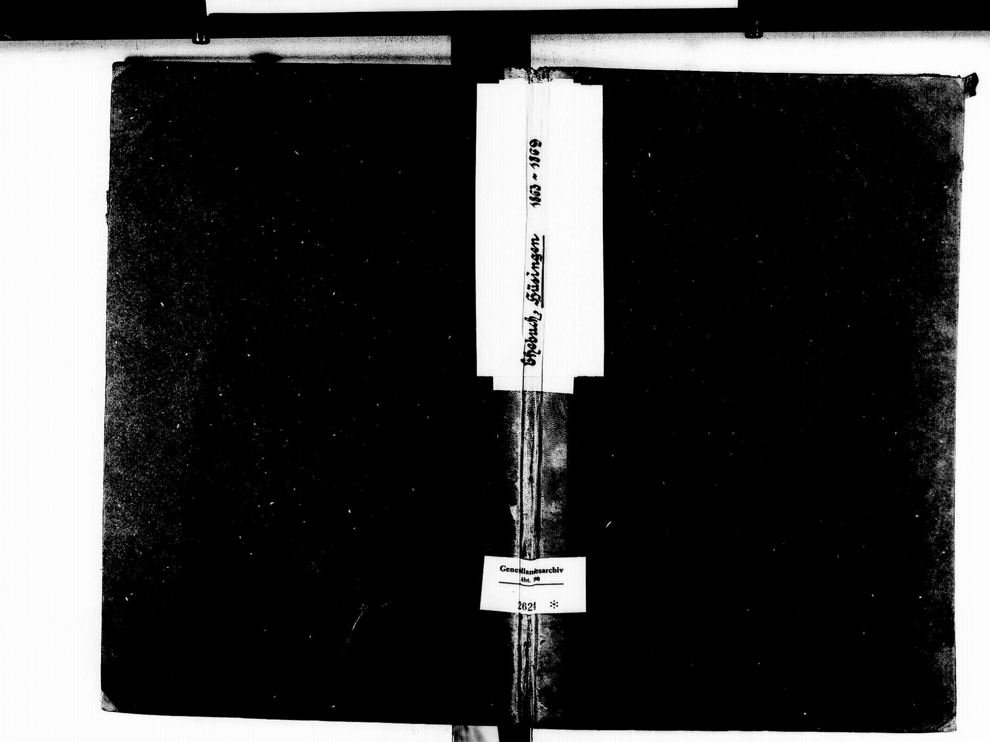 Hüsingen, Steinen LÖ; Evangelische Gemeinde: Heiratsbuch 1863-1869, Bild 1