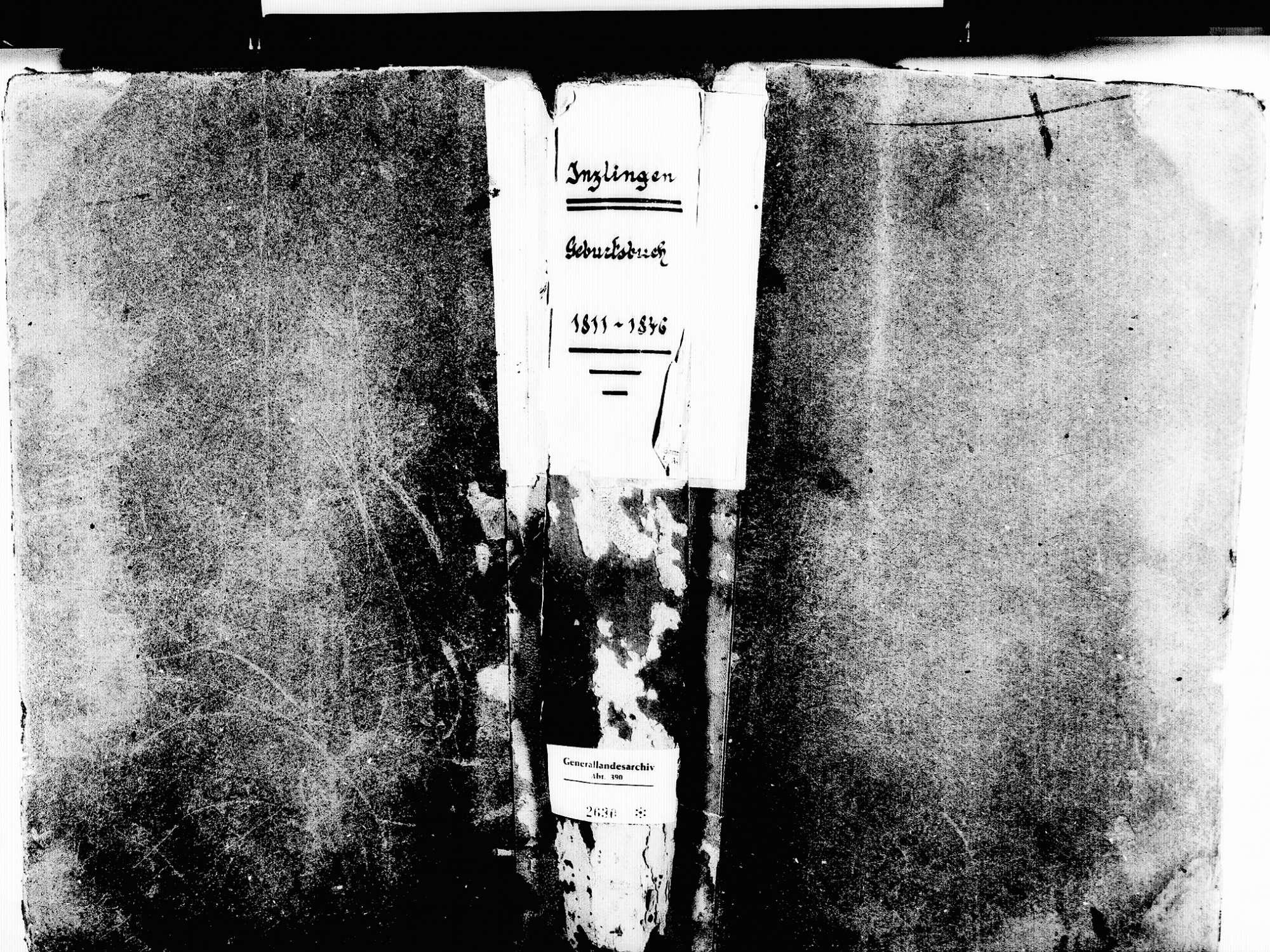 Inzlingen LÖ; Katholische Gemeinde: Geburtenbuch 1811-1846, Bild 1
