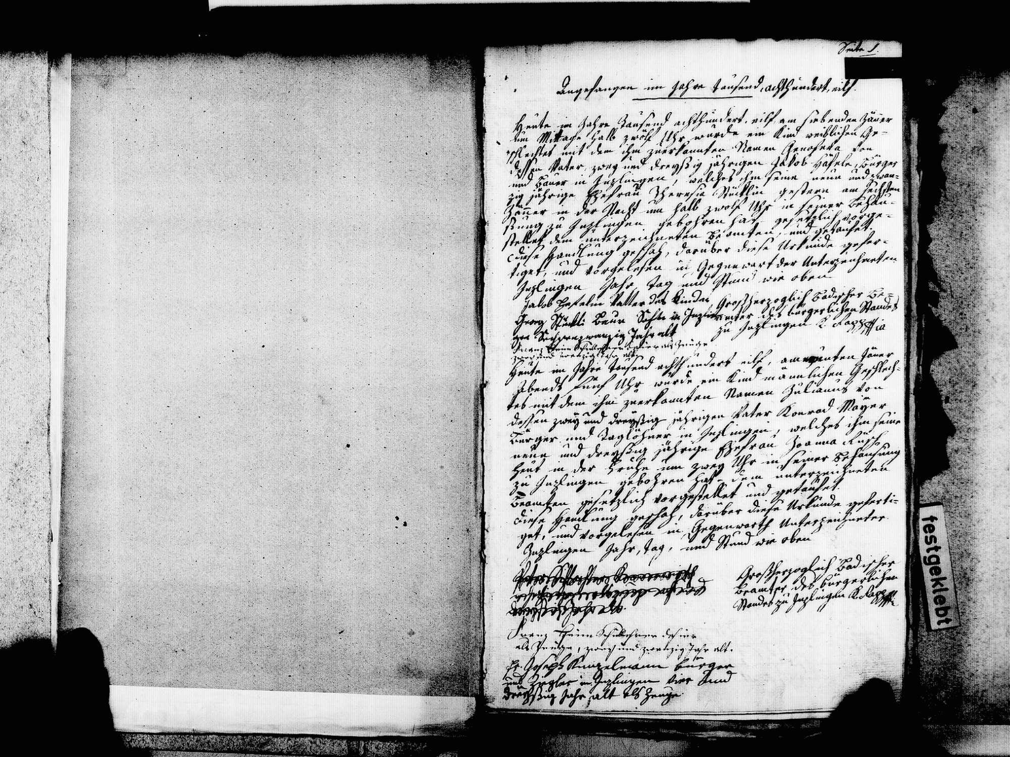 Inzlingen LÖ; Katholische Gemeinde: Geburtenbuch 1811-1846, Bild 3