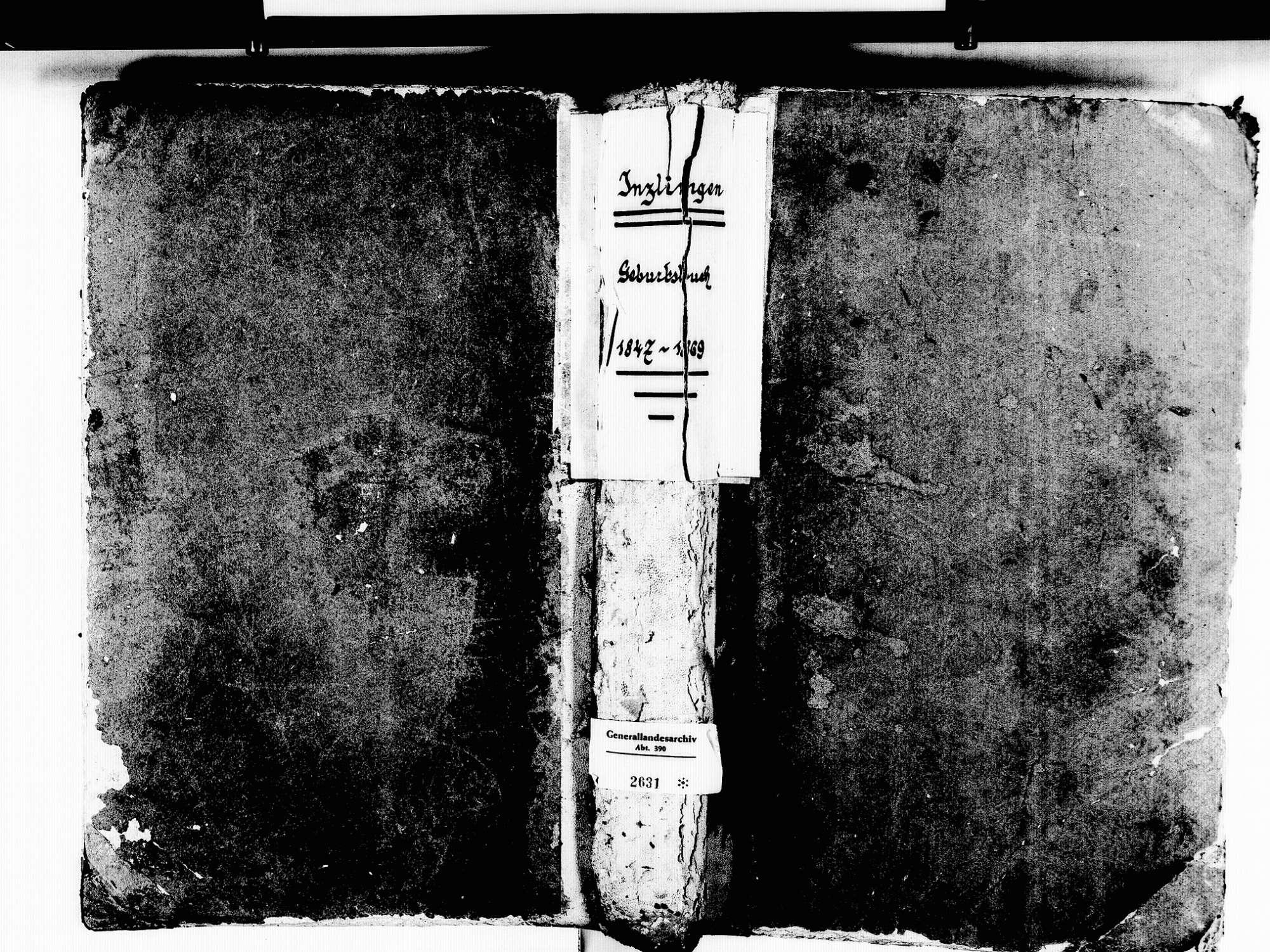 Inzlingen LÖ; Katholische Gemeinde: Geburtenbuch 1847-1869, Bild 1