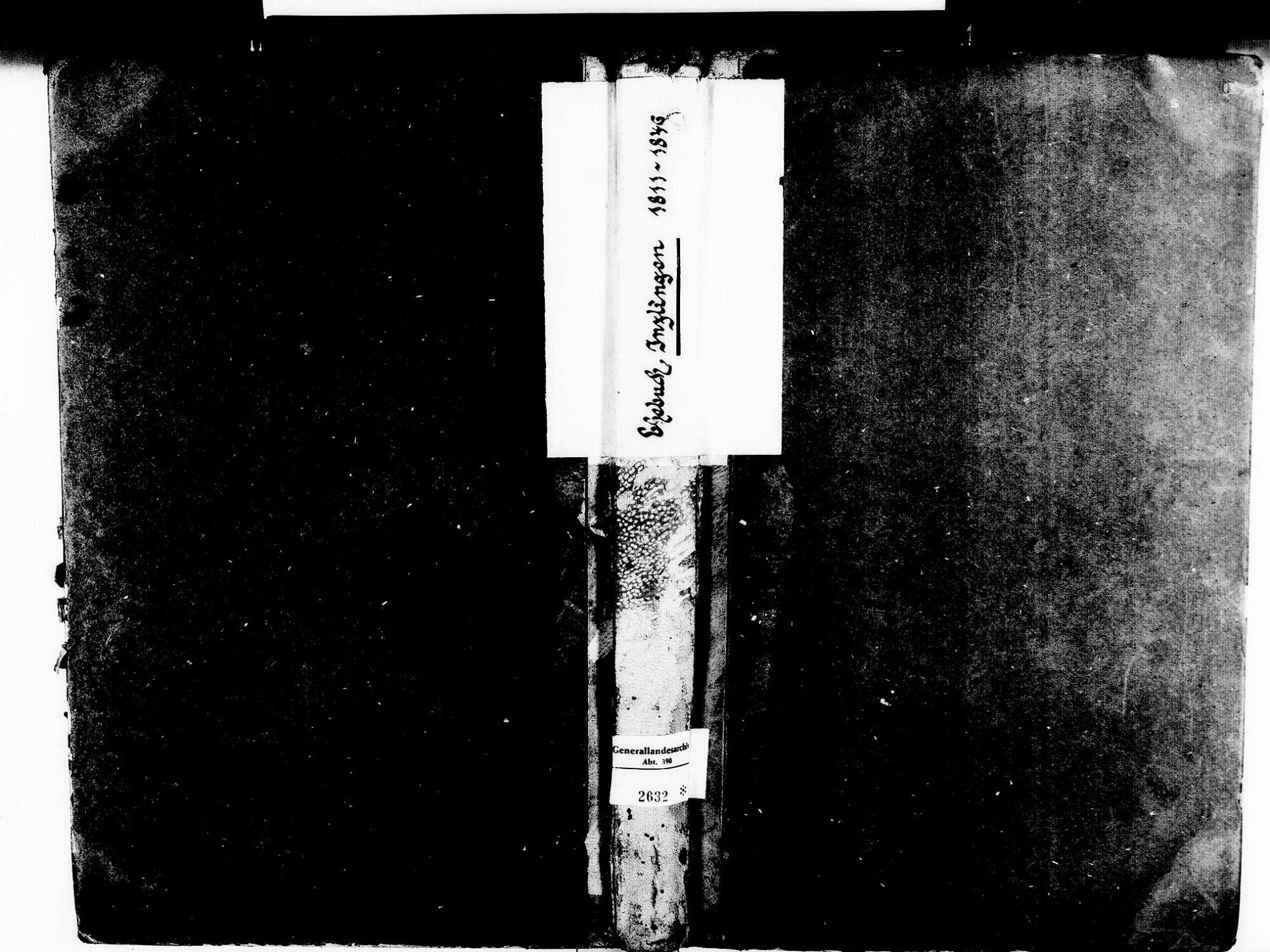 Inzlingen LÖ; Katholische Gemeinde: Heiratsbuch 1811-1846 Inzlingen LÖ; Katholische Gemeinde: Sterbebuch 1843, Bild 1