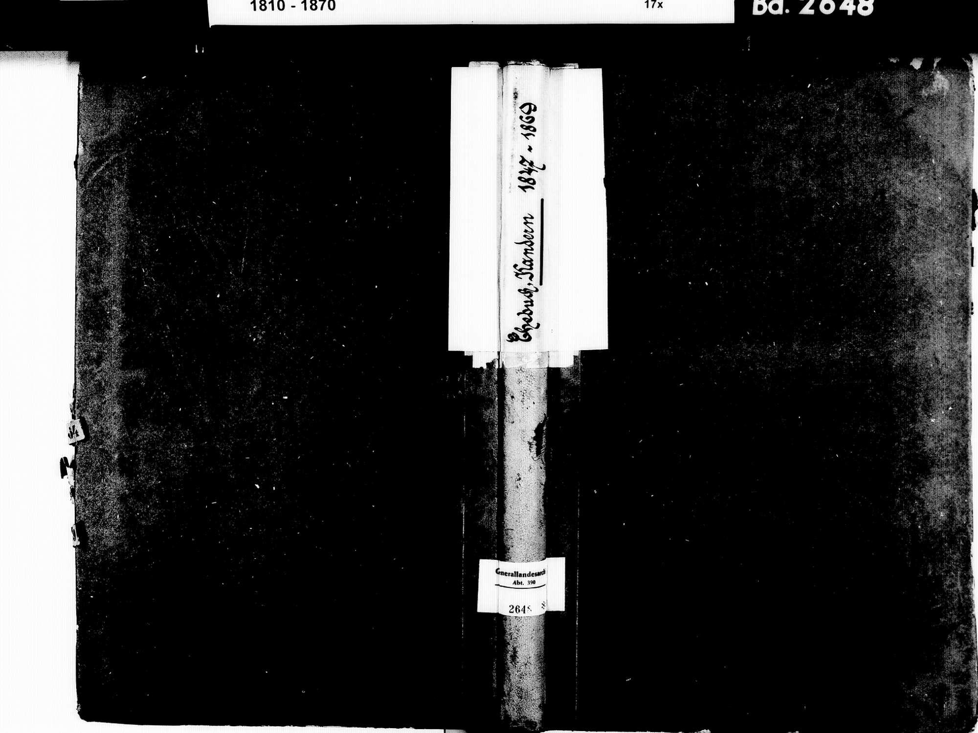 Kandern LÖ; Evangelische Gemeinde: Heiratsbuch 1847-1869, Bild 1