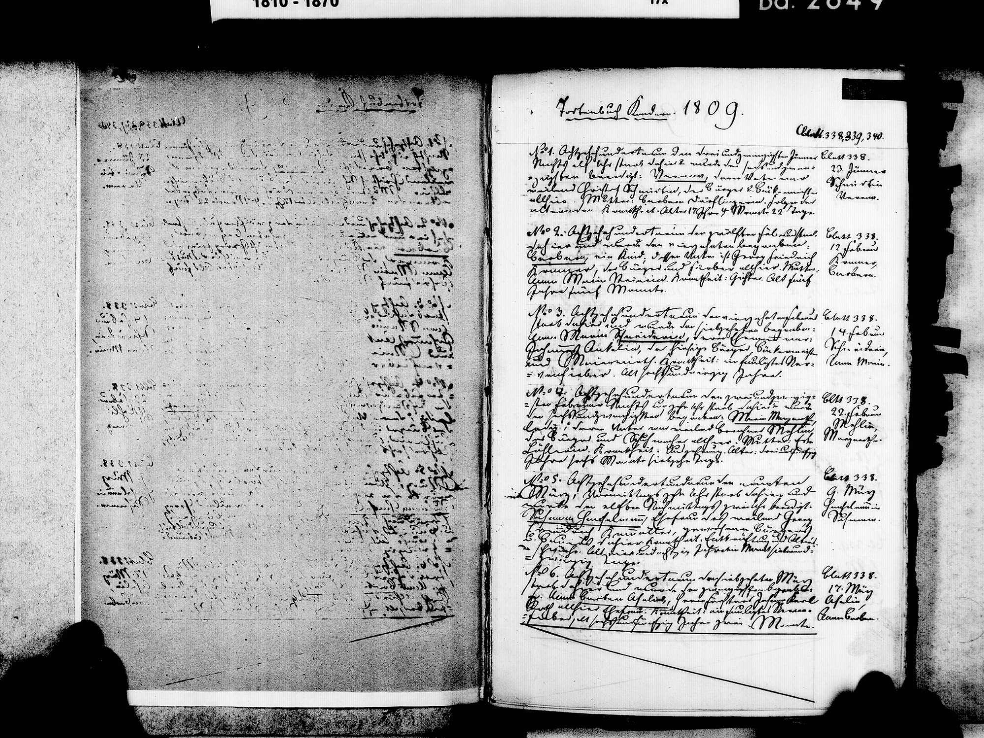 Kandern LÖ; Evangelische Gemeinde: Sterbebuch 1809-1825, Bild 3