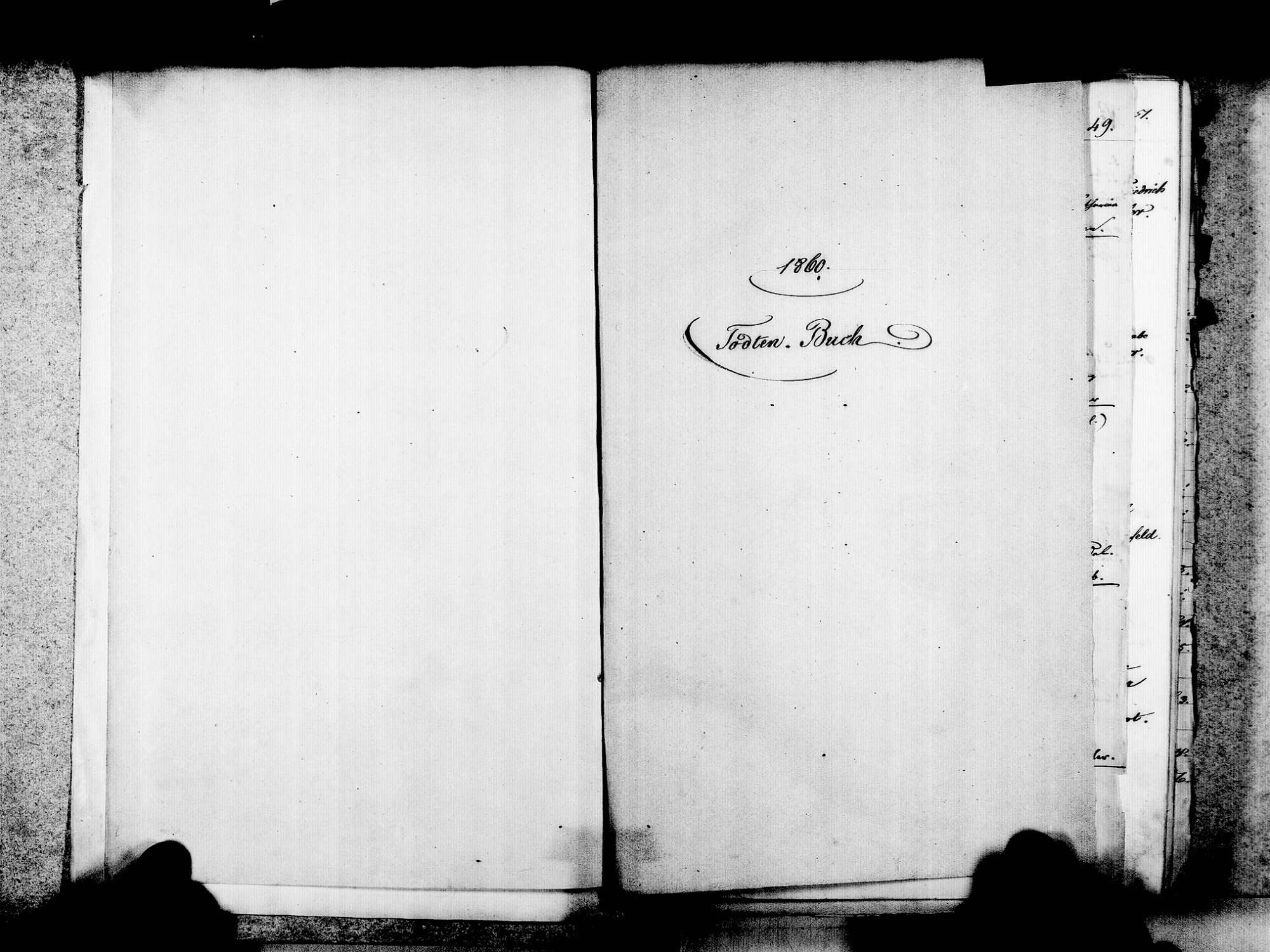 Lörrach LÖ; Evangelische Gemeinde: Sterbebuch 1860-1869 Lörrach LÖ, Katholische Gemeinde: Sterbebuch 1867-1869 Lörrach LÖ; Israelitische Gemeinde: Sterbebuch 1860-1869, Bild 3