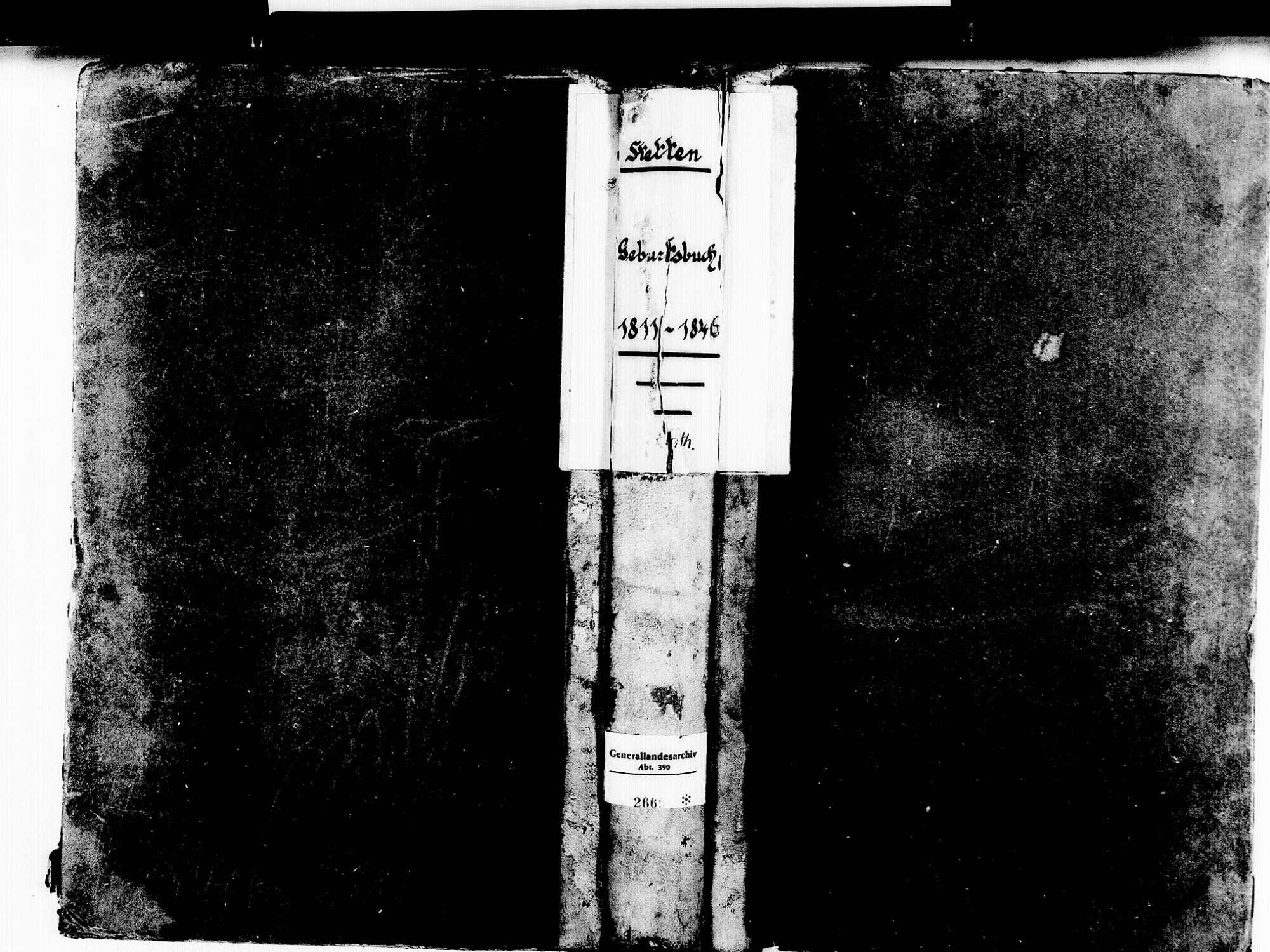 Stetten, aufgegangen in Lörrach LÖ; Katholische Gemeinde: Geburtenbuch 1811-1846, Bild 1