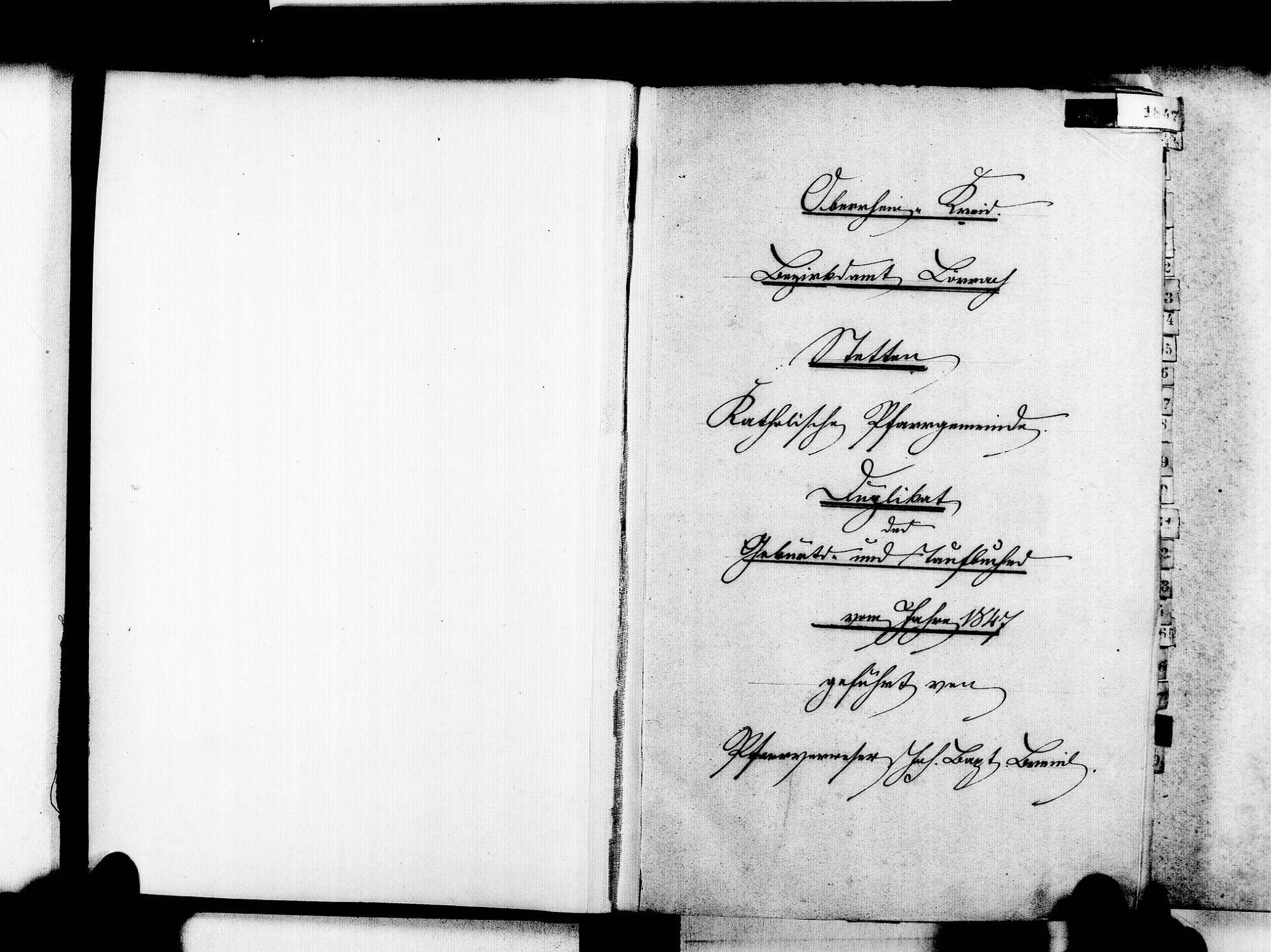 Stetten, aufgegangen in Lörrach LÖ; Katholische Gemeinde: Geburtenbuch 1847-1869, Bild 3