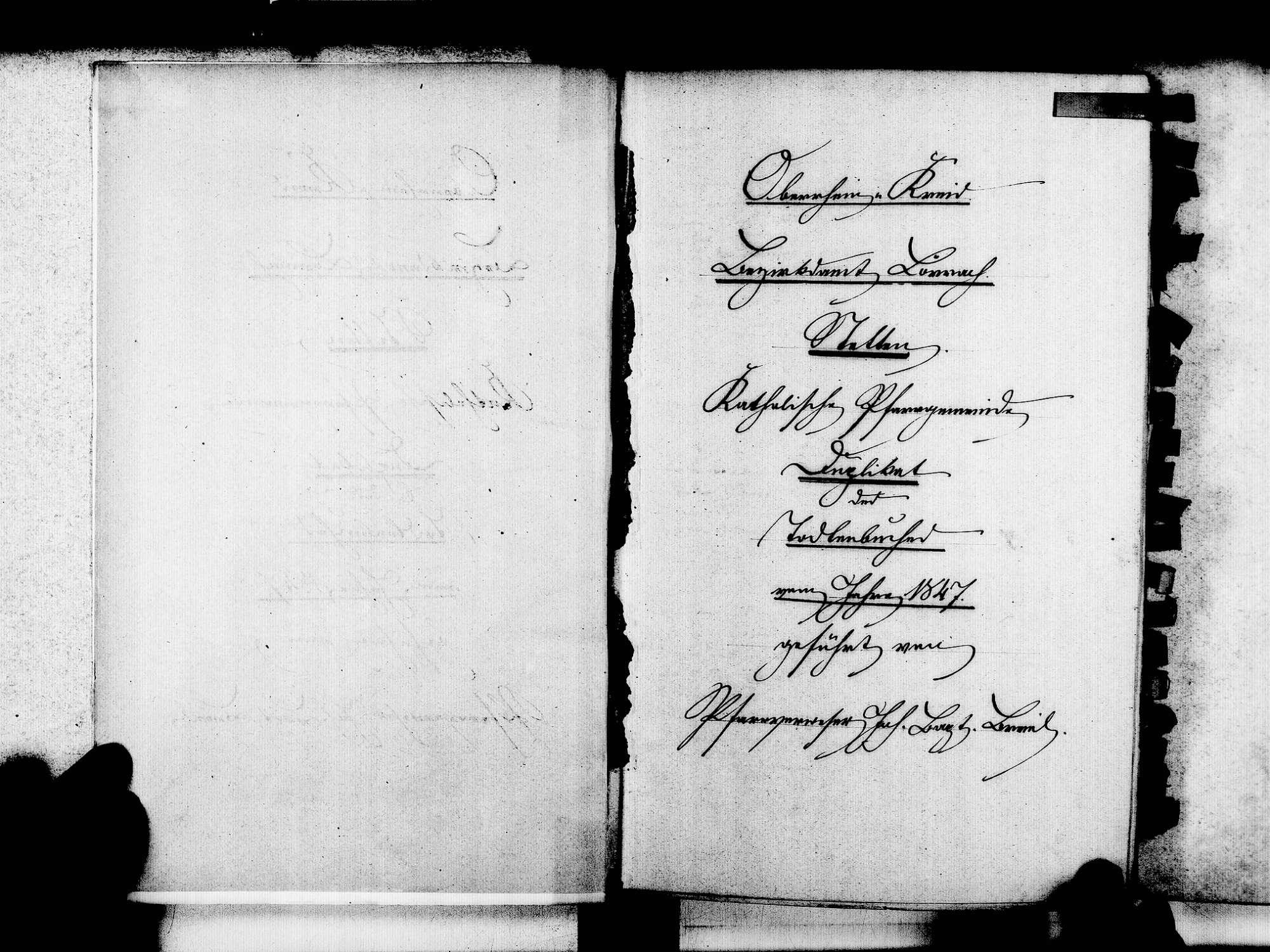 Stetten, aufgegangen in Lörrach LÖ; Katholische Gemeinde: Sterbebuch 1847-1869, Bild 3