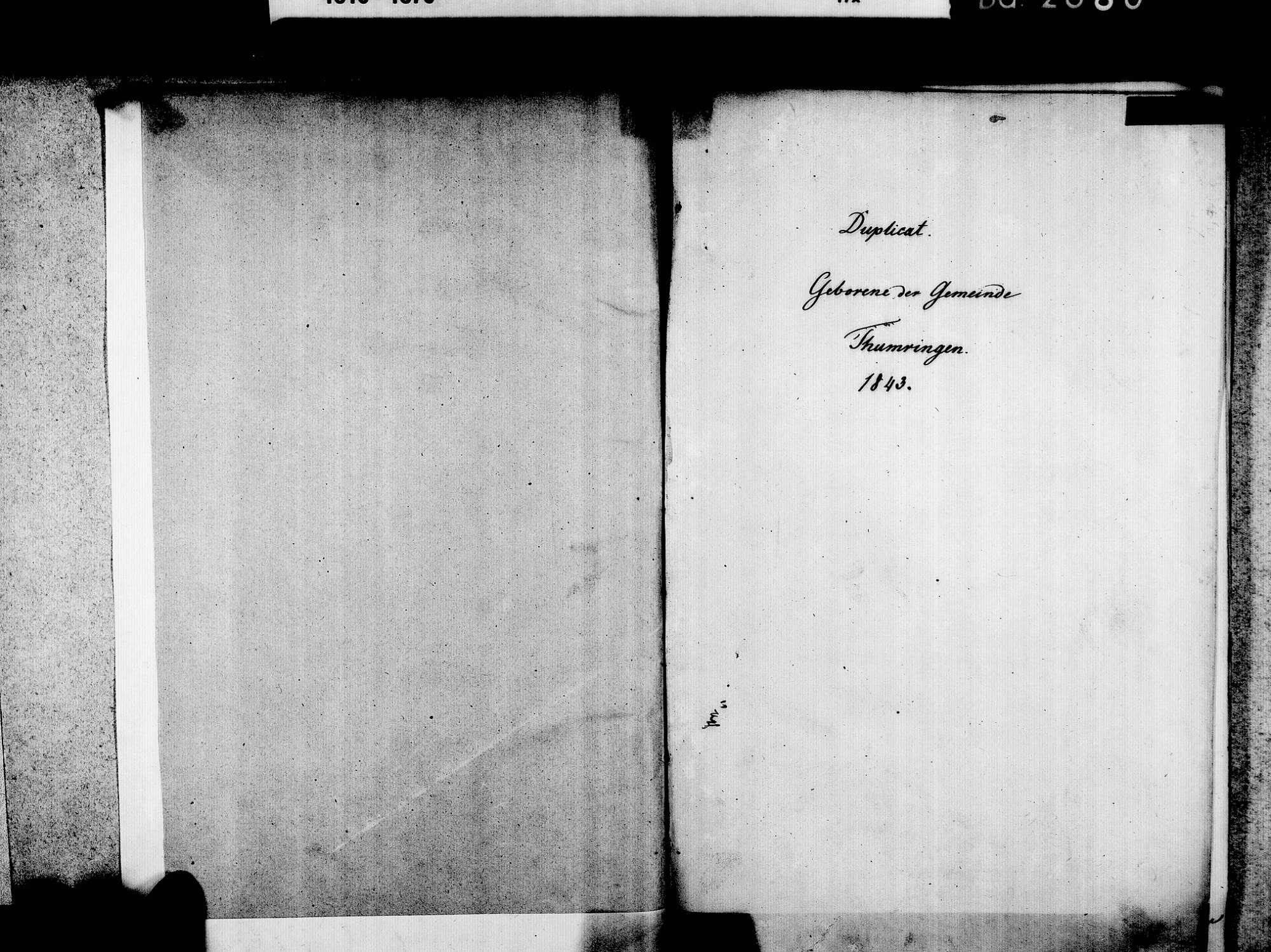 Tumringen, Lörrach LÖ; Evangelische Gemeinde: Geburtenbuch 1843-1869, Bild 3