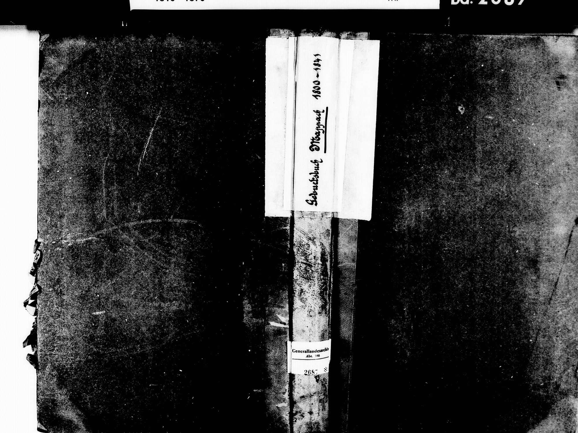 Mappach, Efringen-Kirchen LÖ; Evangelische Gemeinde: Geburtenbuch 1800-1841 Mappach, Efringen-Kirchen LÖ; Evangelische Gemeinde: Heiratsbuch 1808, Bild 1