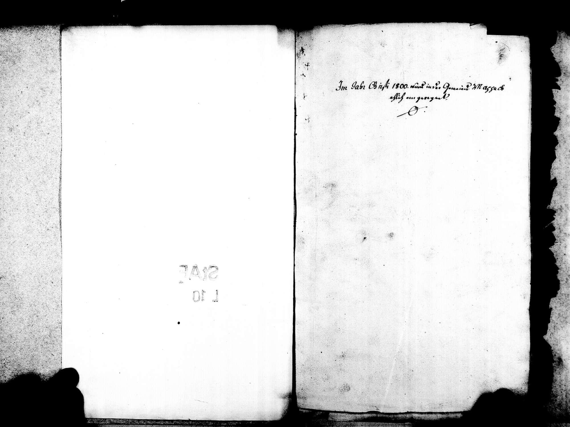 Mappach, Efringen-Kirchen LÖ; Evangelische Gemeinde: Heiratsbuch 1800-1869, Bild 3