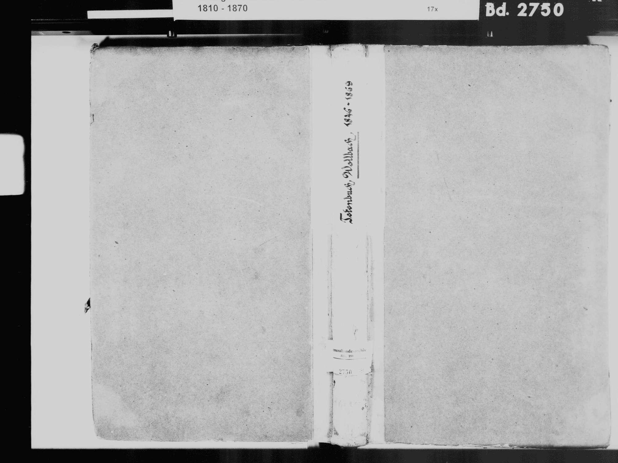 Wollbach, Kandern LÖ; Evangelische Gemeinde: Sterbebuch 1846-1869, Bild 2