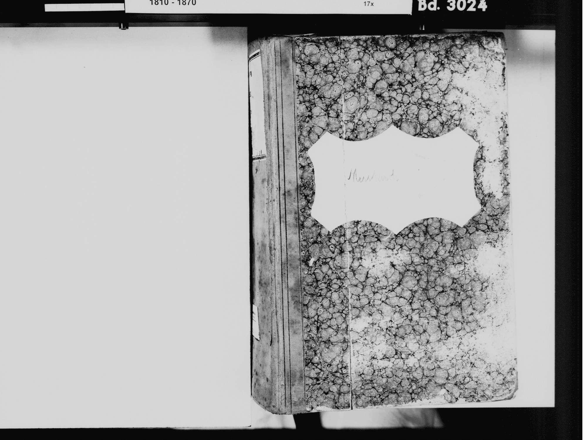 Meßkirch SIG; Katholische Gemeinde: Standesbuch 1811-1832 Meßkirch SIG; Katholische Gemeinde: Heiratsbuch 1820-1822, Bild 3