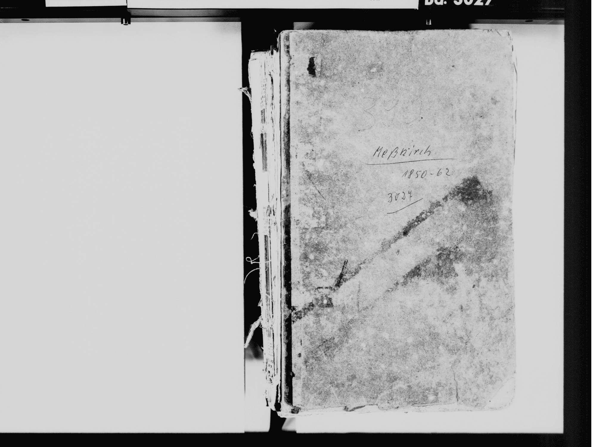 Meßkirch SIG; Katholische Gemeinde: Standesbuch 1850-1861, Bild 2