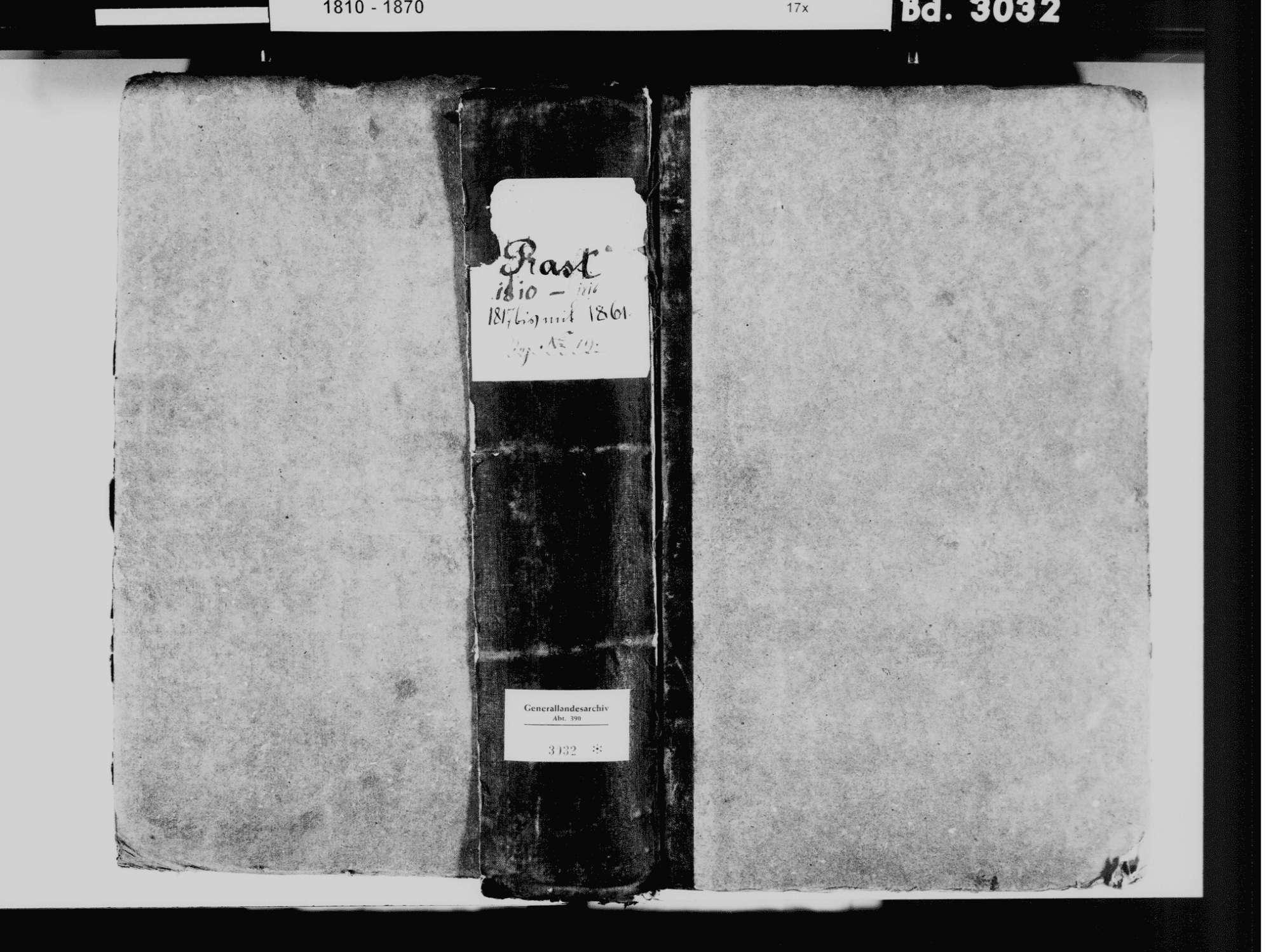 Rast, Sauldorf SIG; Katholische Gemeinde: Standesbuch 1810-1861, Bild 2