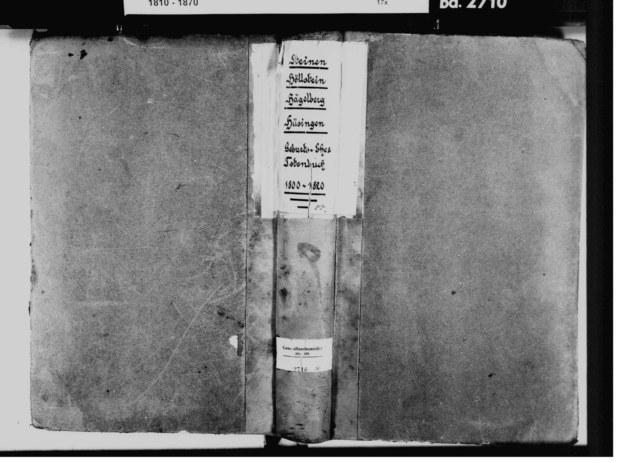 Steinen LÖ; Evangelische Gemeinde: Standesbuch 1800-1820 Enthält: Einzelne Katholische Einträge, Bild 2