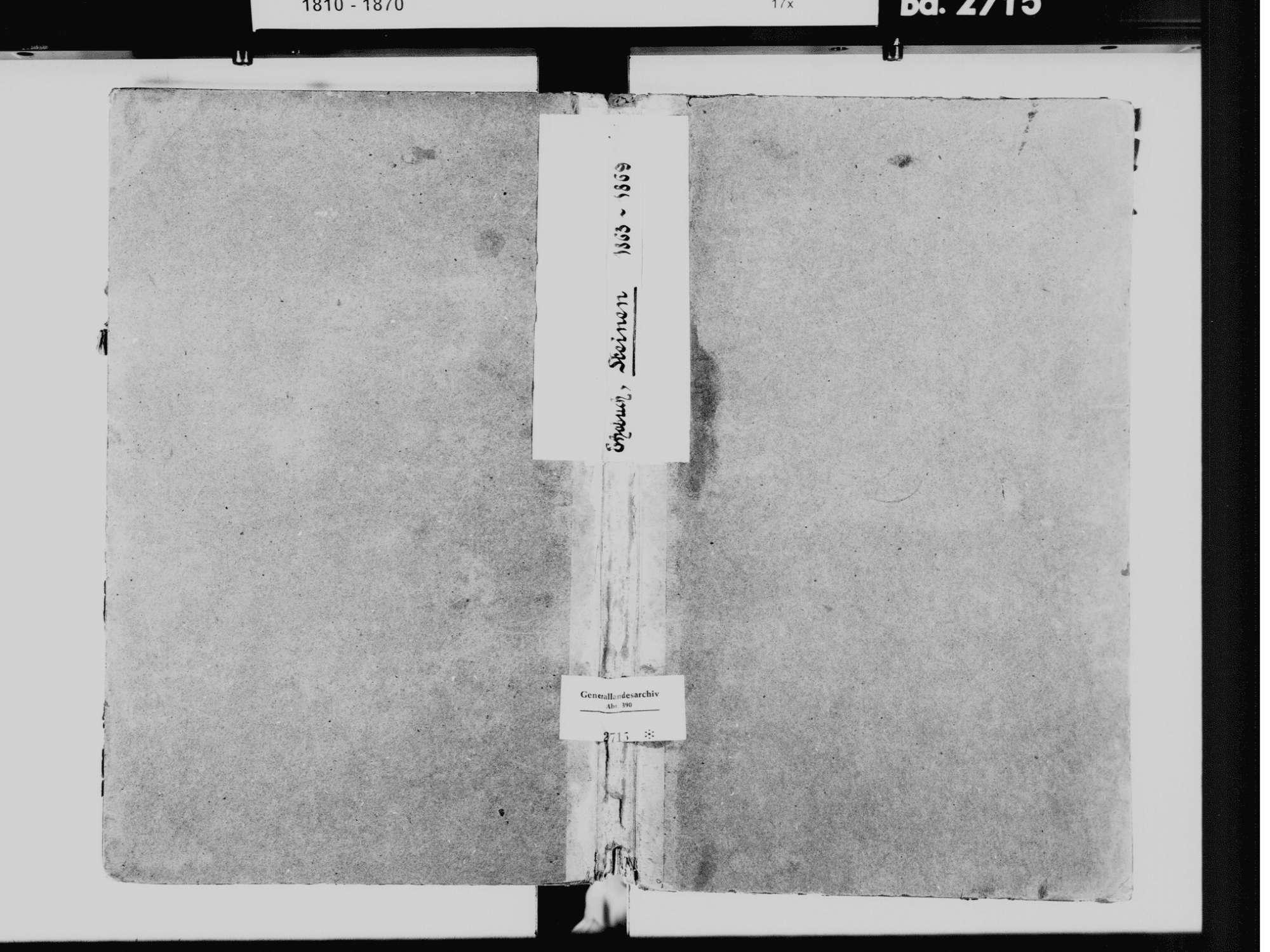 Steinen LÖ; Evangelische Gemeinde: Heiratsbuch 1863-1869 Enthält: Einzelne Katholische Einträge, Bild 2