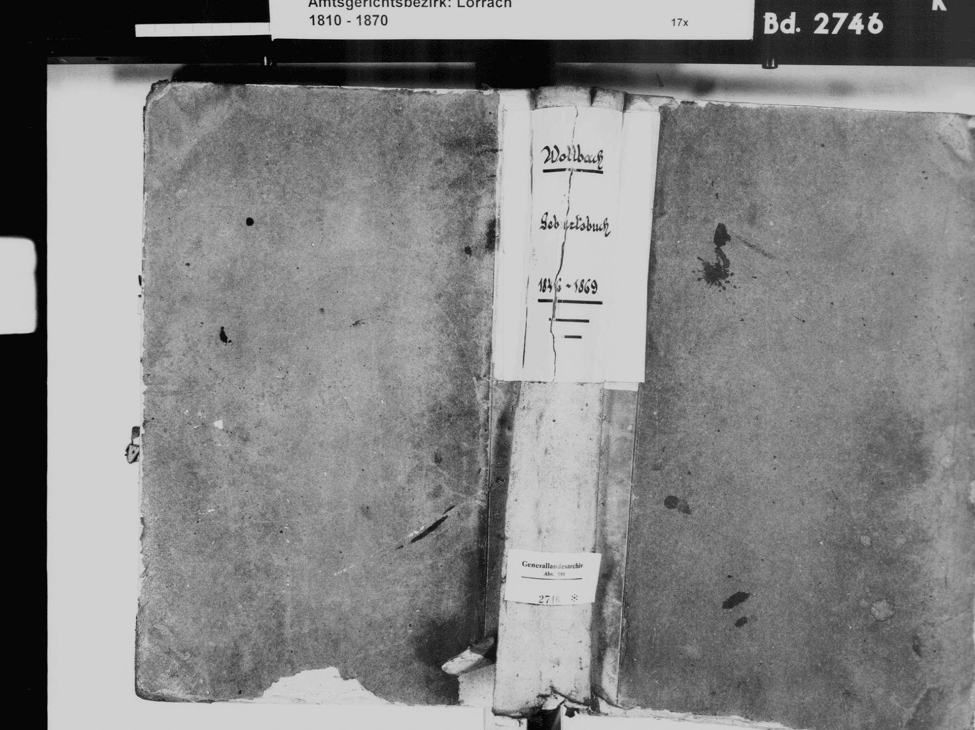 Wollbach, Kandern LÖ; Evangelische Gemeinde: Geburtenbuch 1846-1869, Bild 2
