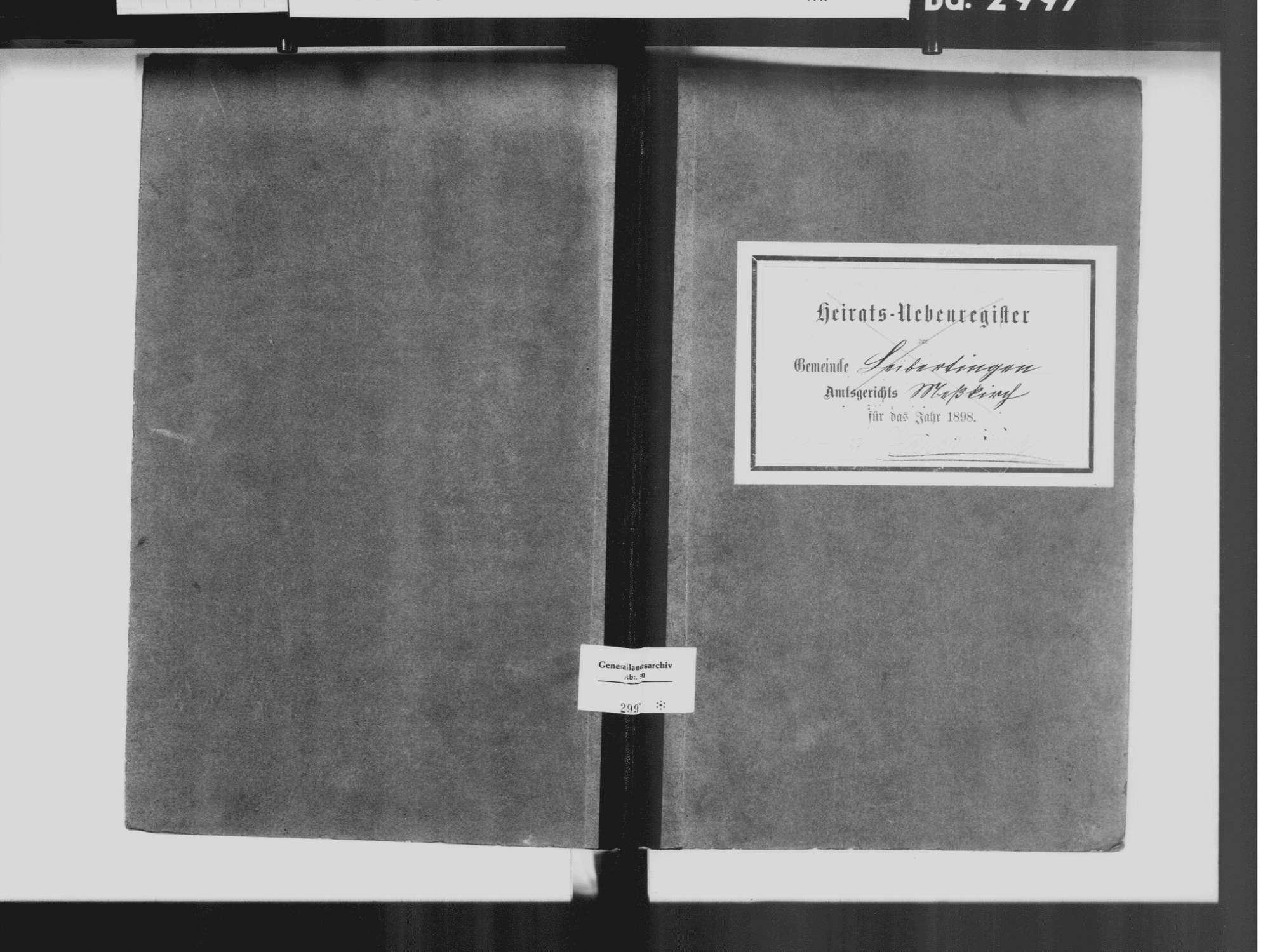 Werenwag, Hausen im Tal, Beuron SIG; Katholische Gemeinde: Standesbuch 1811-1827, Bild 2