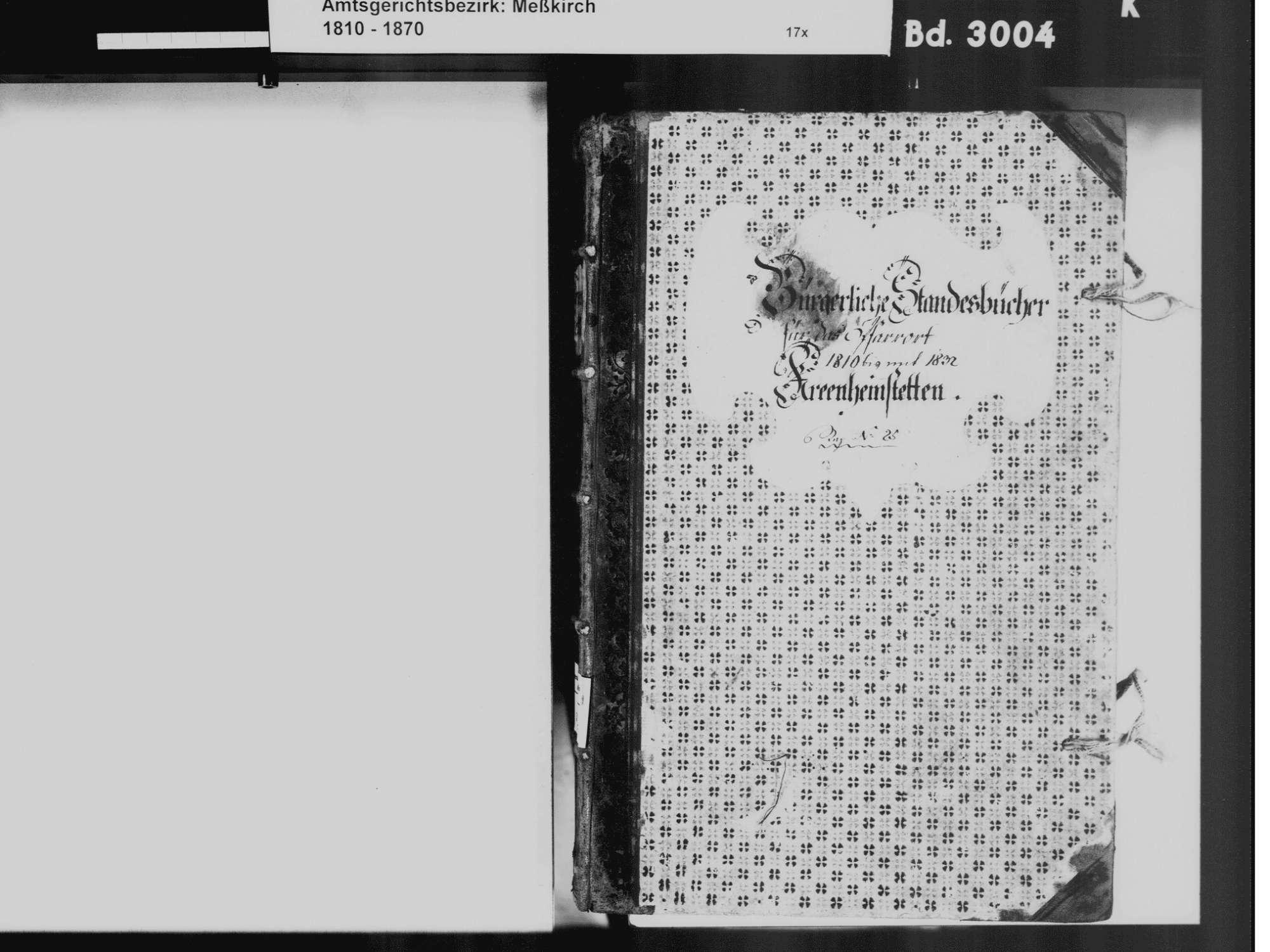 Kreenheinstetten, Leibertingen SIG; Katholische Gemeinde: Standesbuch 1810-1832, Bild 3