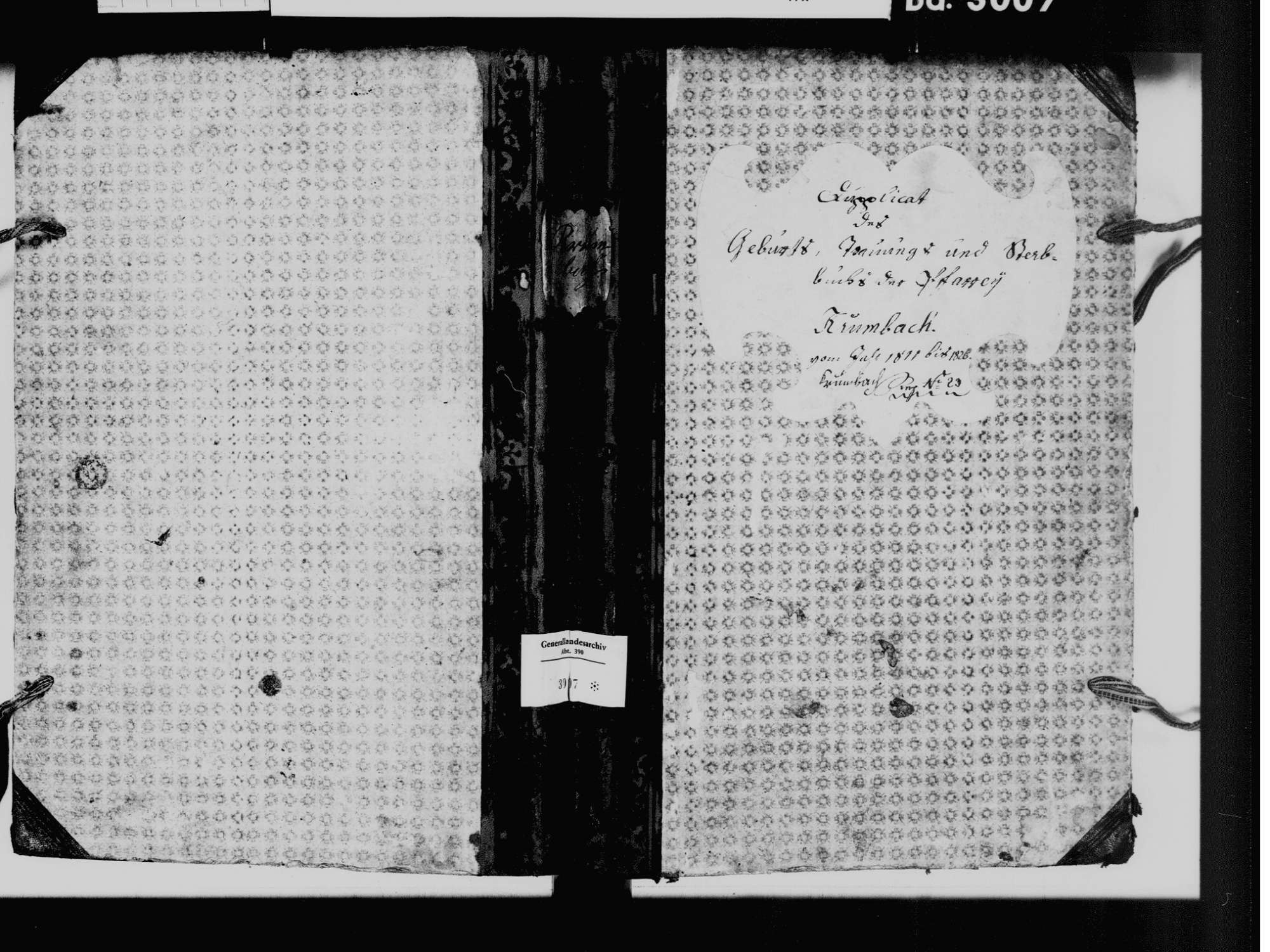 Krumbach, Sauldorf SIG; Katholische Gemeinde: Standesbuch 1811-1828, Bild 2