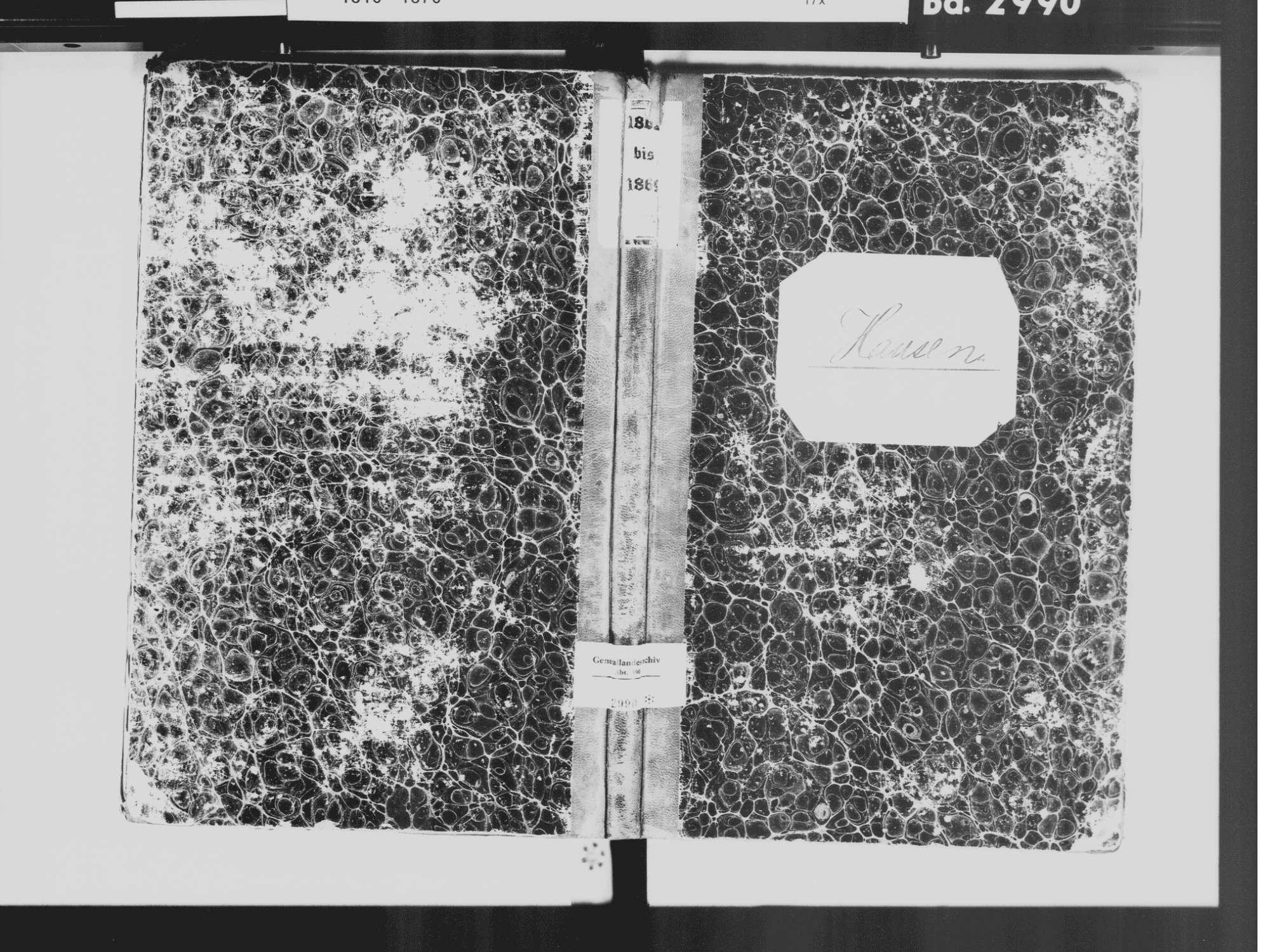 Hausen im Tal, Beuron SIG; Katholische Gemeinde: Standesbuch 1862-1869, Bild 2