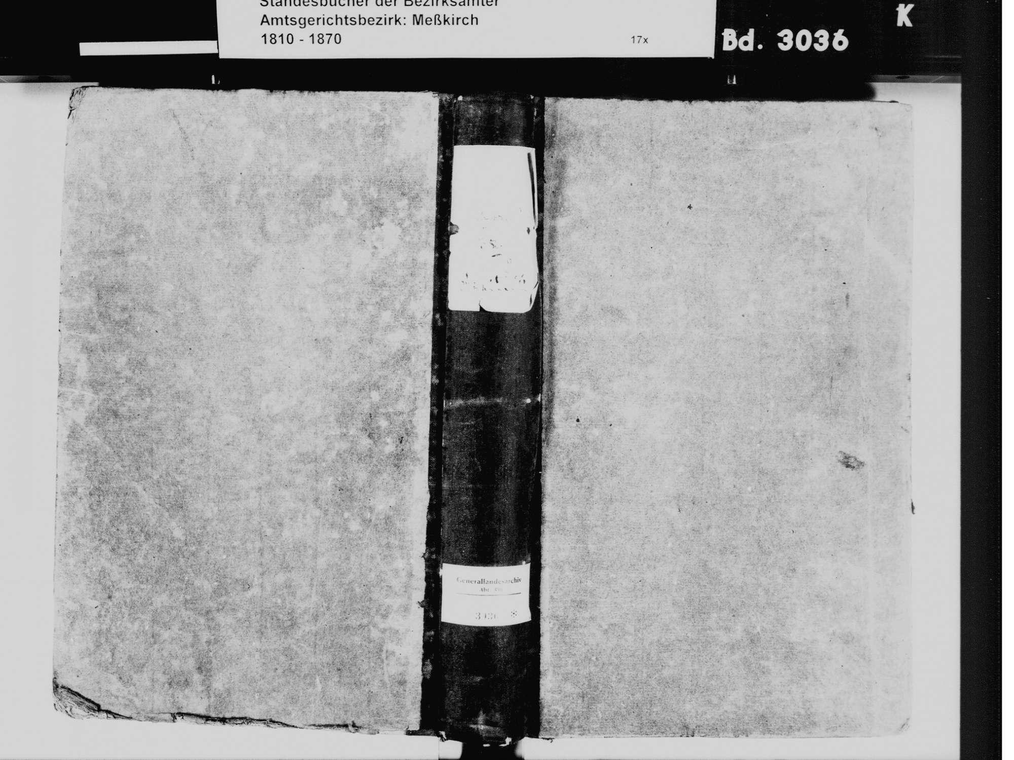 Rohrdorf, Meßkirch SIG; Katholische Gemeinde: Standesbuch 1850-1861, Bild 2
