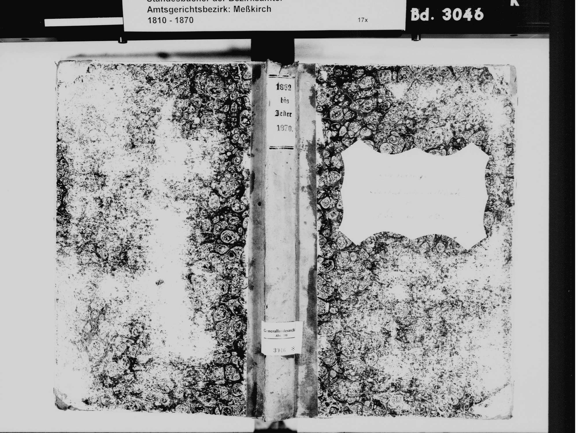Schwenningen SIG; Katholische Gemeinde: Standesbuch 1862-1870, Bild 2