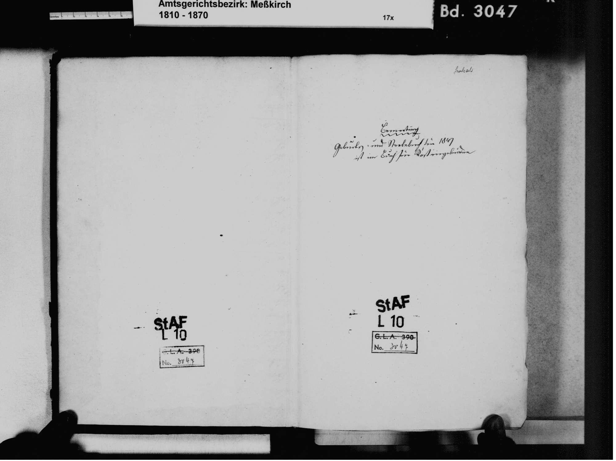 Sentenhart, Wald SIG; Katholische Gemeinde: Standesbuch 1811-1861, Bild 3