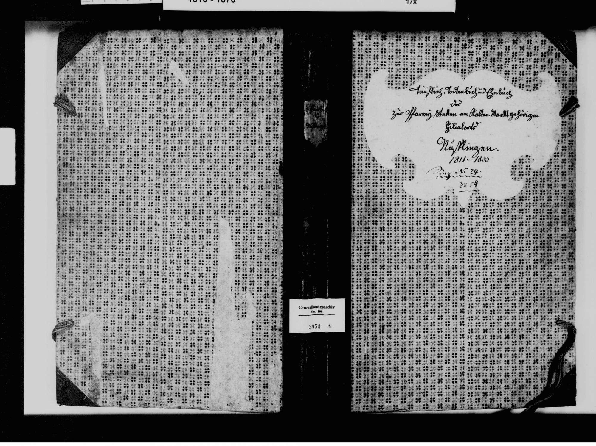 Nusplingen, Stetten am kalten Markt SIG; Katholische Gemeinde: Standesbuch 1811-1833, Bild 2