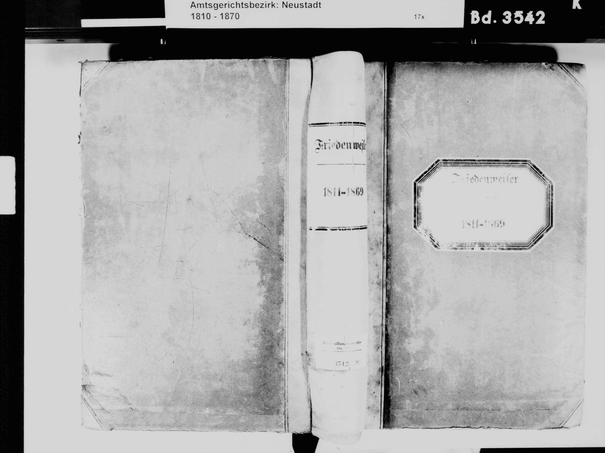 Friedenweiler FR; Katholische Gemeinde: Standesbuch 1811-1869, Bild 2