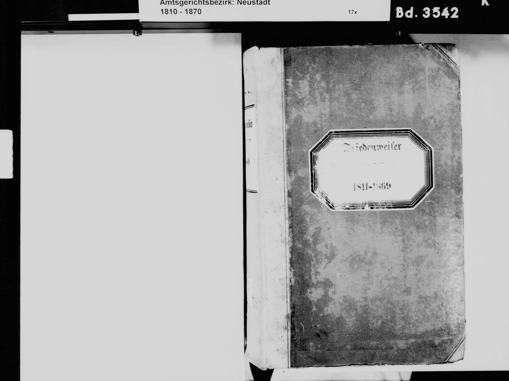 Friedenweiler FR; Katholische Gemeinde: Standesbuch 1811-1869, Bild 3