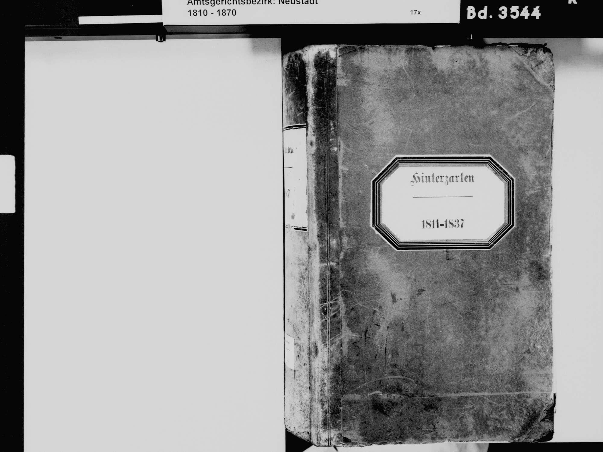 Hinterzarten FR; Katholische Gemeinde: Standesbuch 1811-1837, Bild 3