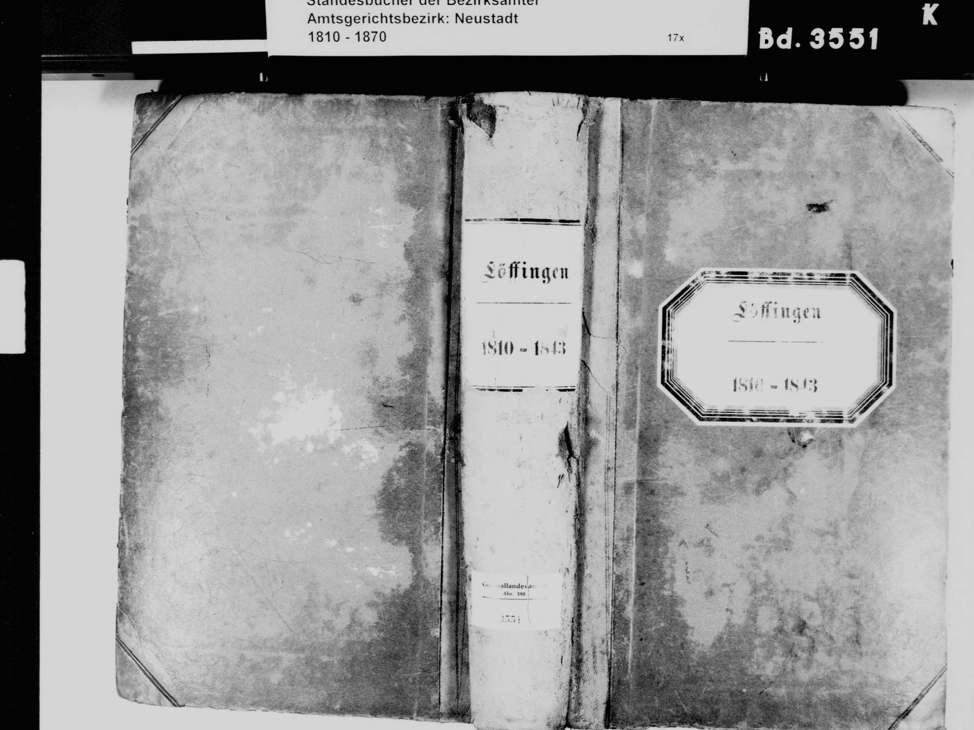 Löffingen FR; Katholische Gemeinde: Standesbuch 1810-1843, Bild 2