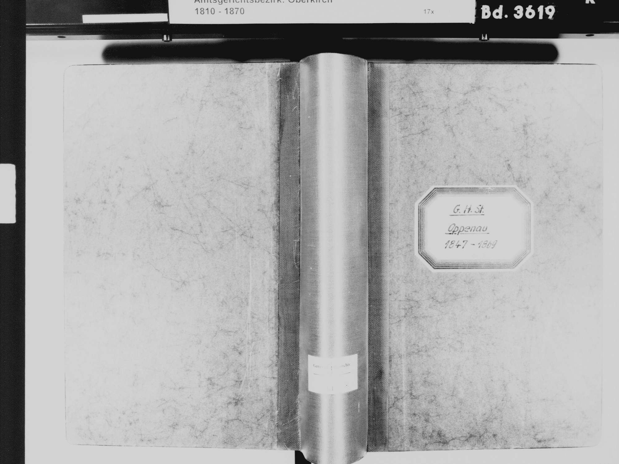 Oppenau OG; Katholische Gemeinde: Standesbuch 1847-1870, Bild 2