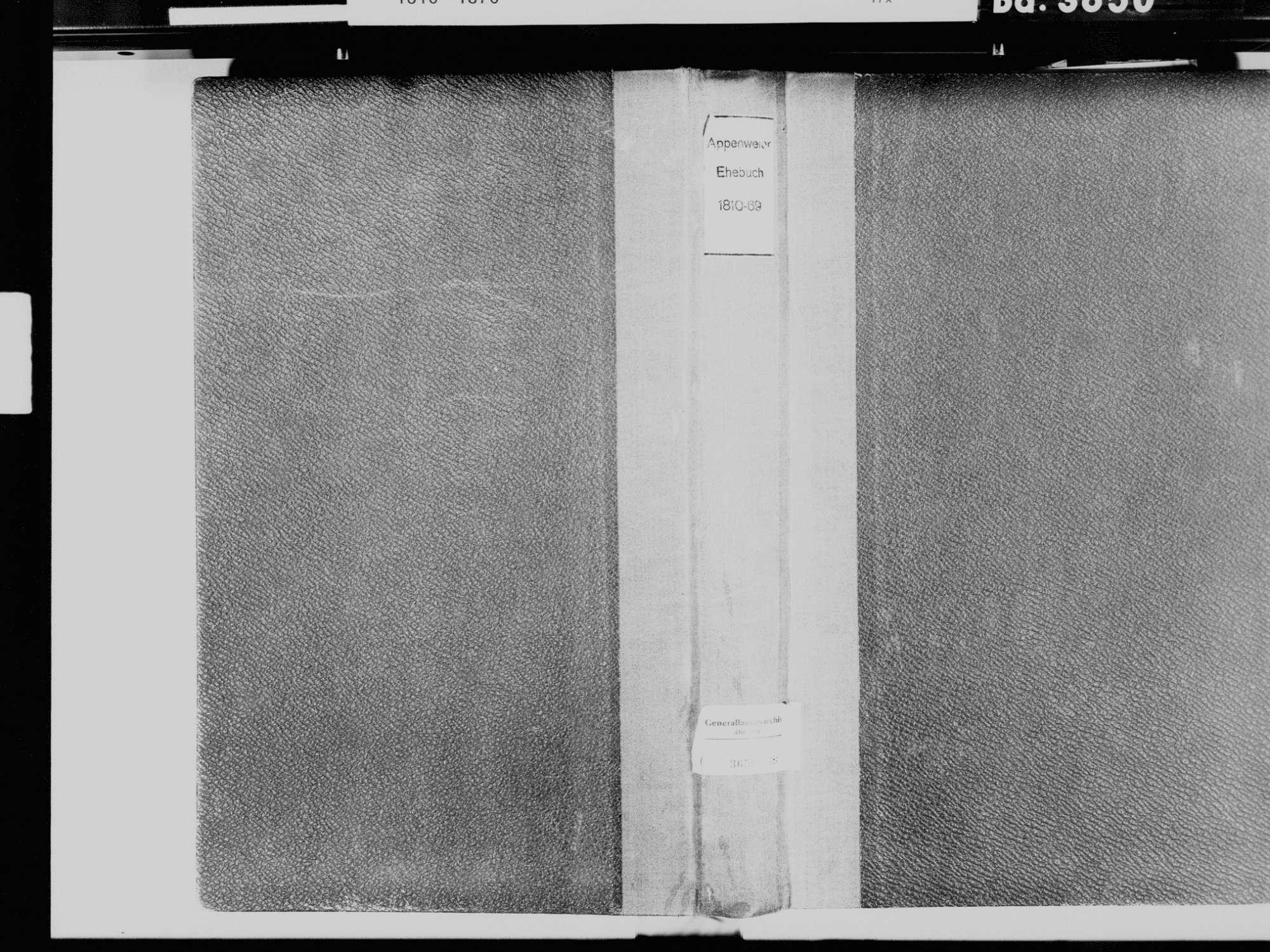 Appenweier OG; Katholische Gemeinde: Heiratsbuch 1810-1869, Bild 2